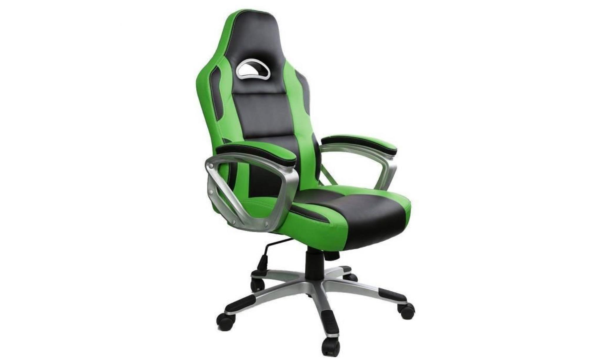 racing chaise de bureau pu fauteuil gamer