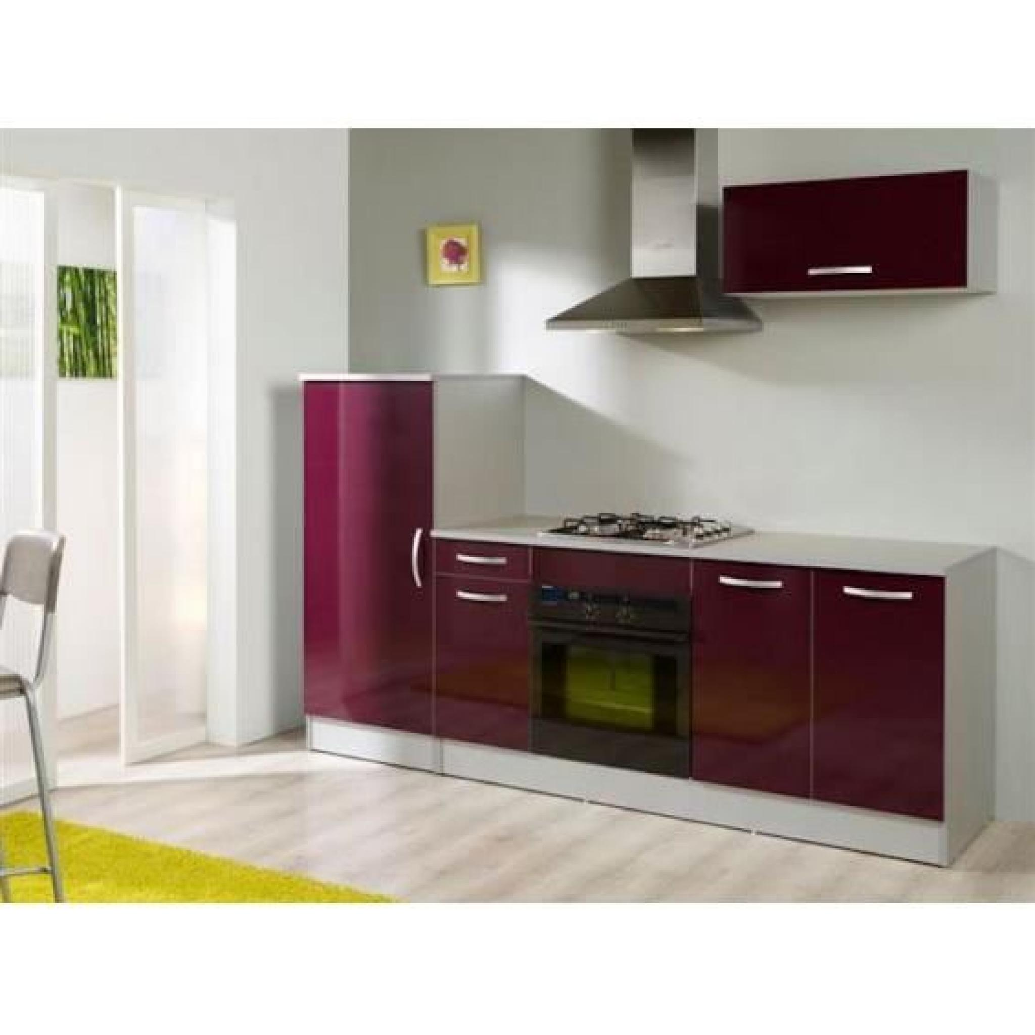 rock ensemble de cuisine aubergine achat vente cuisine. Black Bedroom Furniture Sets. Home Design Ideas