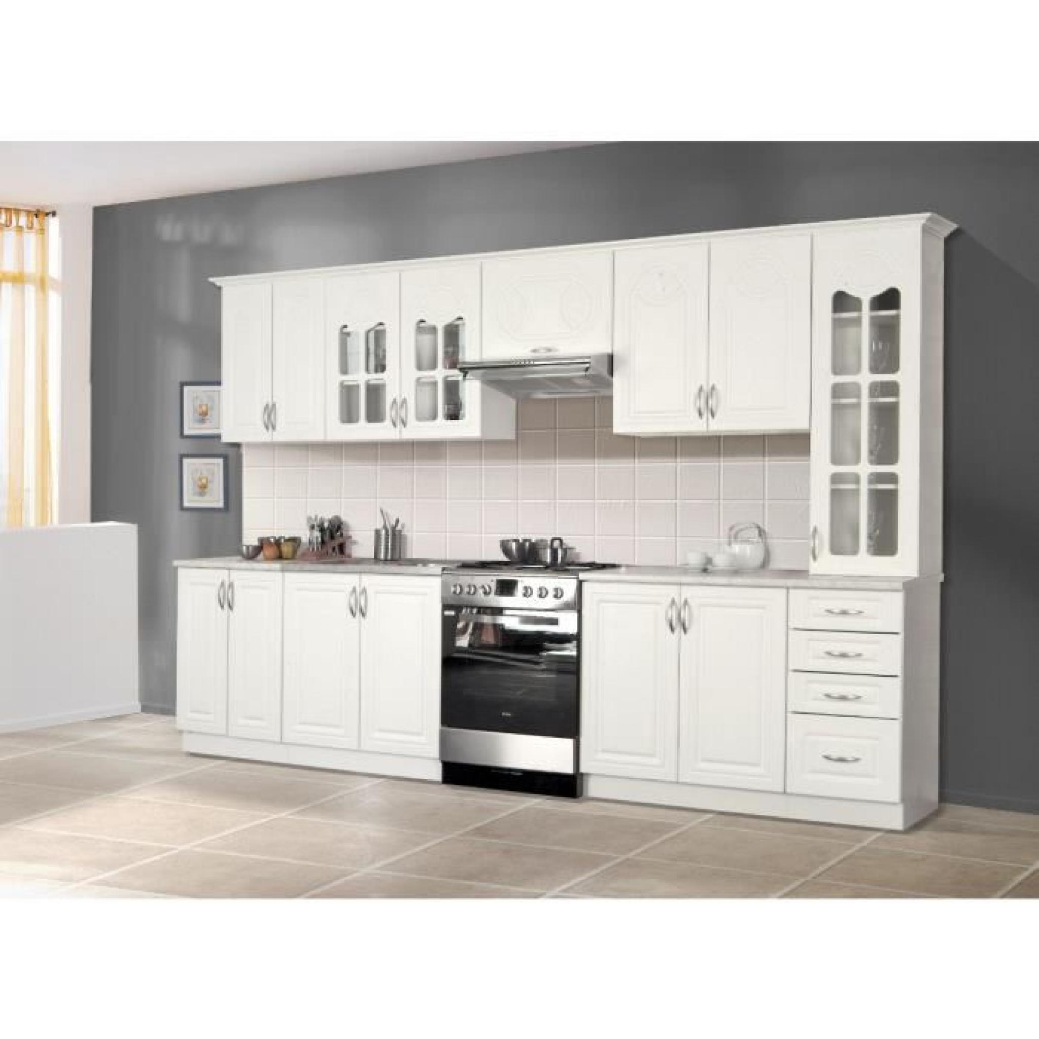 rosa cuisine compl te 3m20 blanc achat vente cuisine. Black Bedroom Furniture Sets. Home Design Ideas