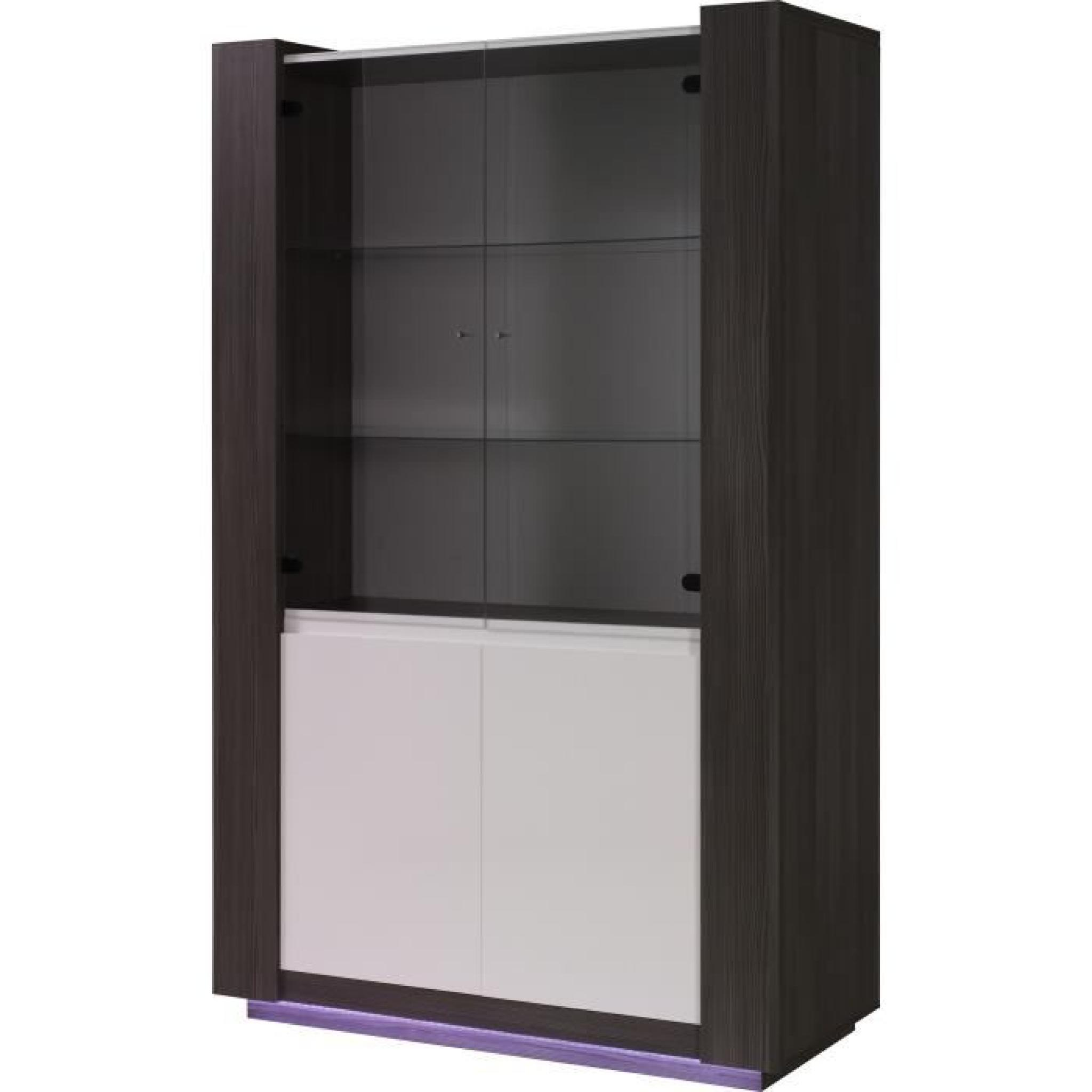salle manger augusto buffet vitrine table 160 cm achat vente ensemble salle a manger pas. Black Bedroom Furniture Sets. Home Design Ideas
