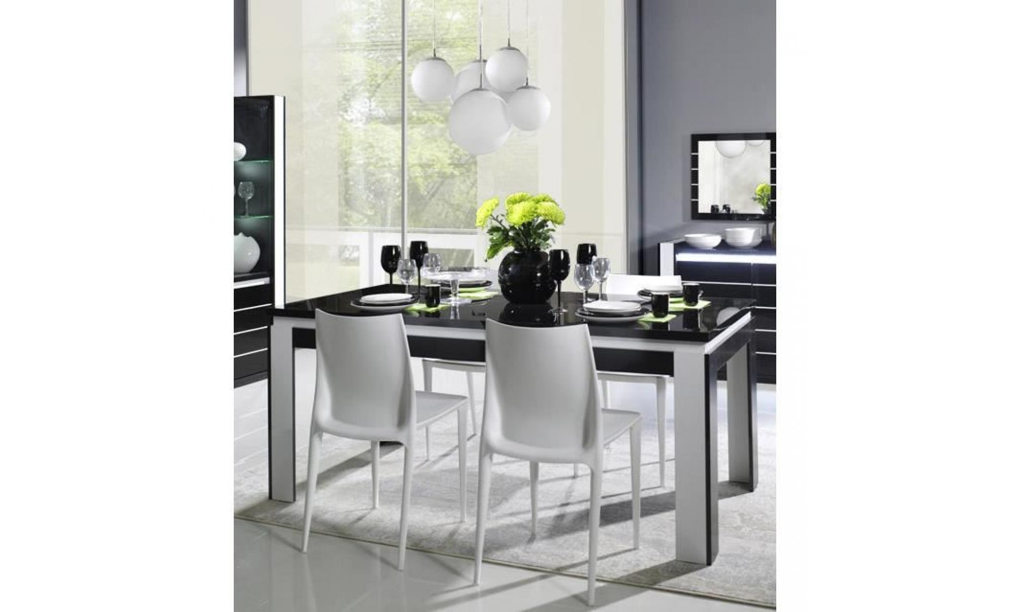 salle manger lina buffet vitrine table 160cm achat. Black Bedroom Furniture Sets. Home Design Ideas