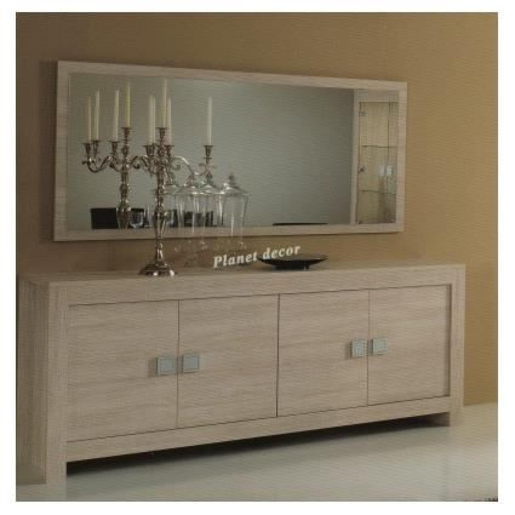 salle manger model pisa beige bahut 4 portes miroir 180 cm achat vente buffet pas cher. Black Bedroom Furniture Sets. Home Design Ideas