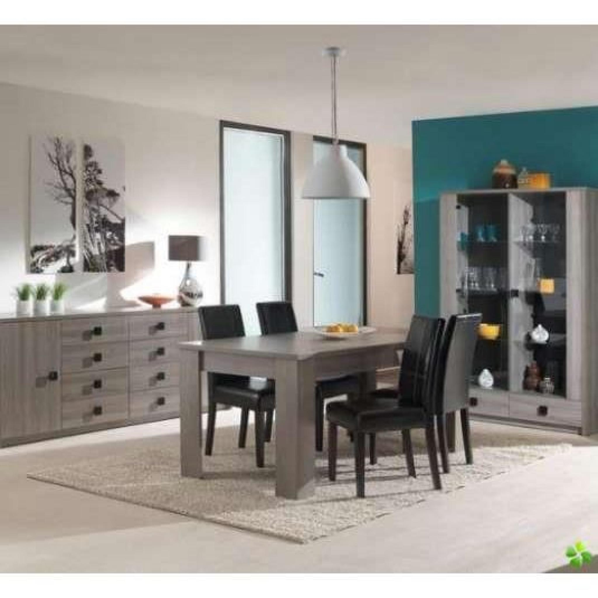 salle manger nany buffet vitrine table 160cm achat. Black Bedroom Furniture Sets. Home Design Ideas