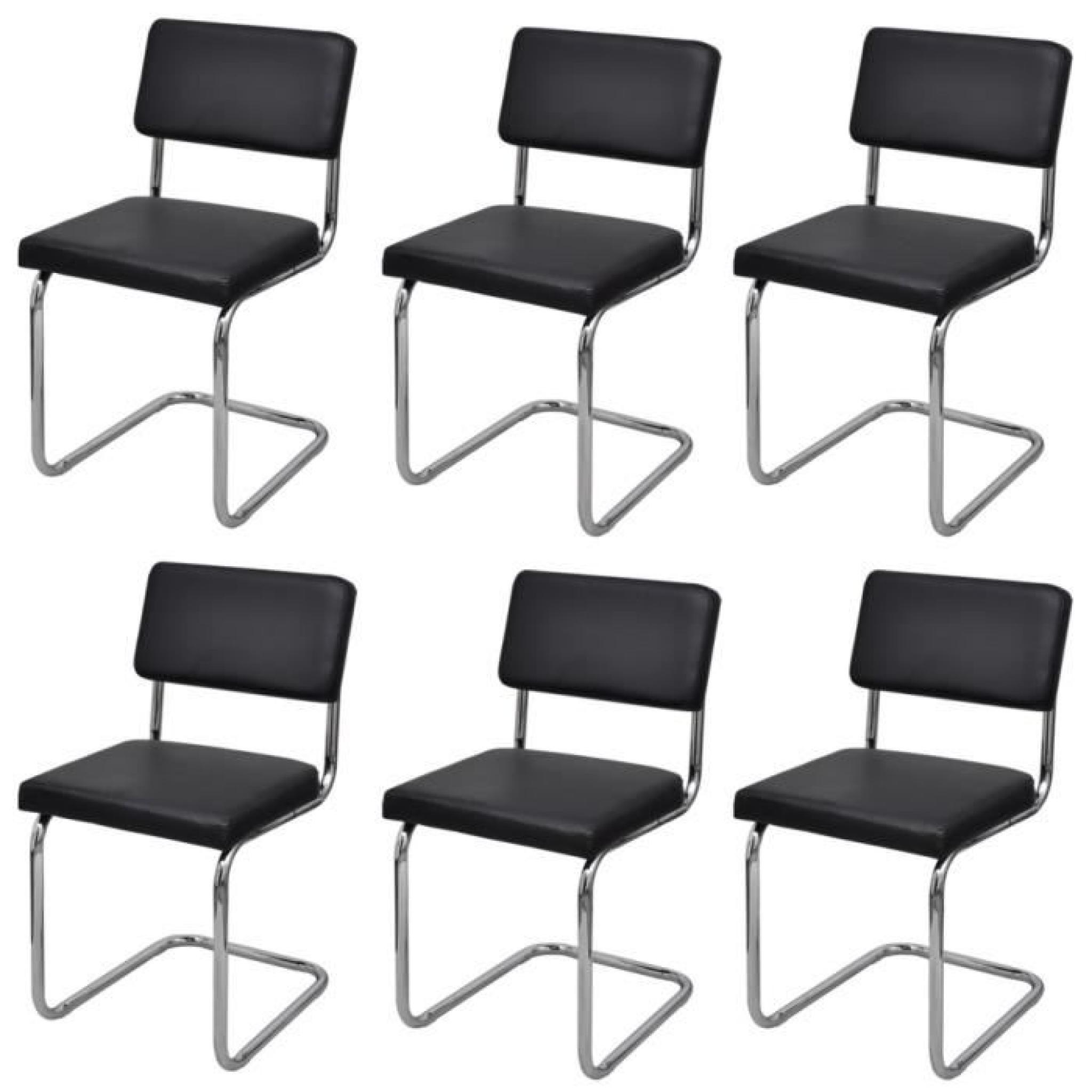 Set de 6 chaises de salon design et moderne en simili cuir - Salle a manger pas cher moderne ...