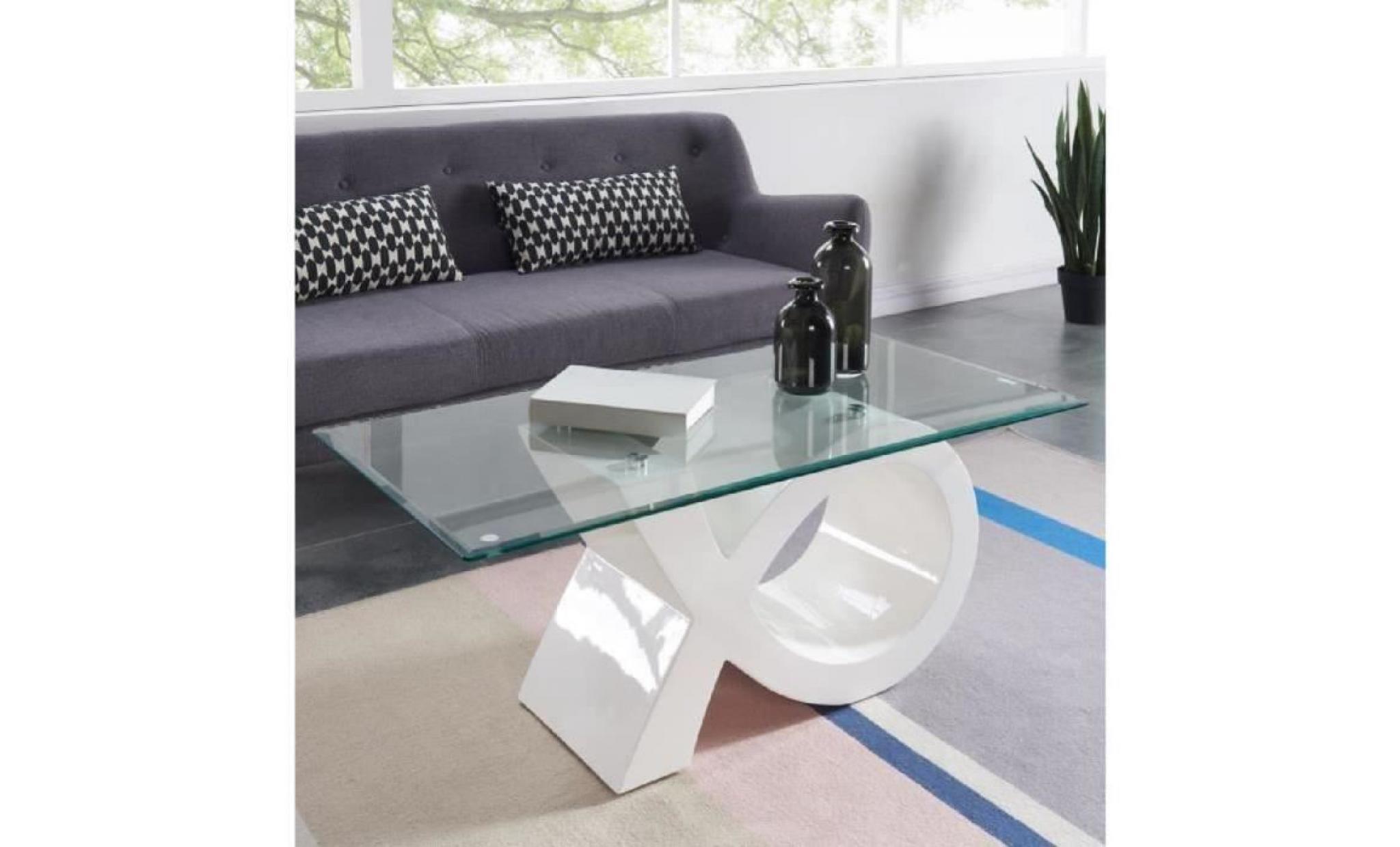 sharon basse laqué 110x55cm contemporain blanc verre brillant table en OyvN8wPmn0