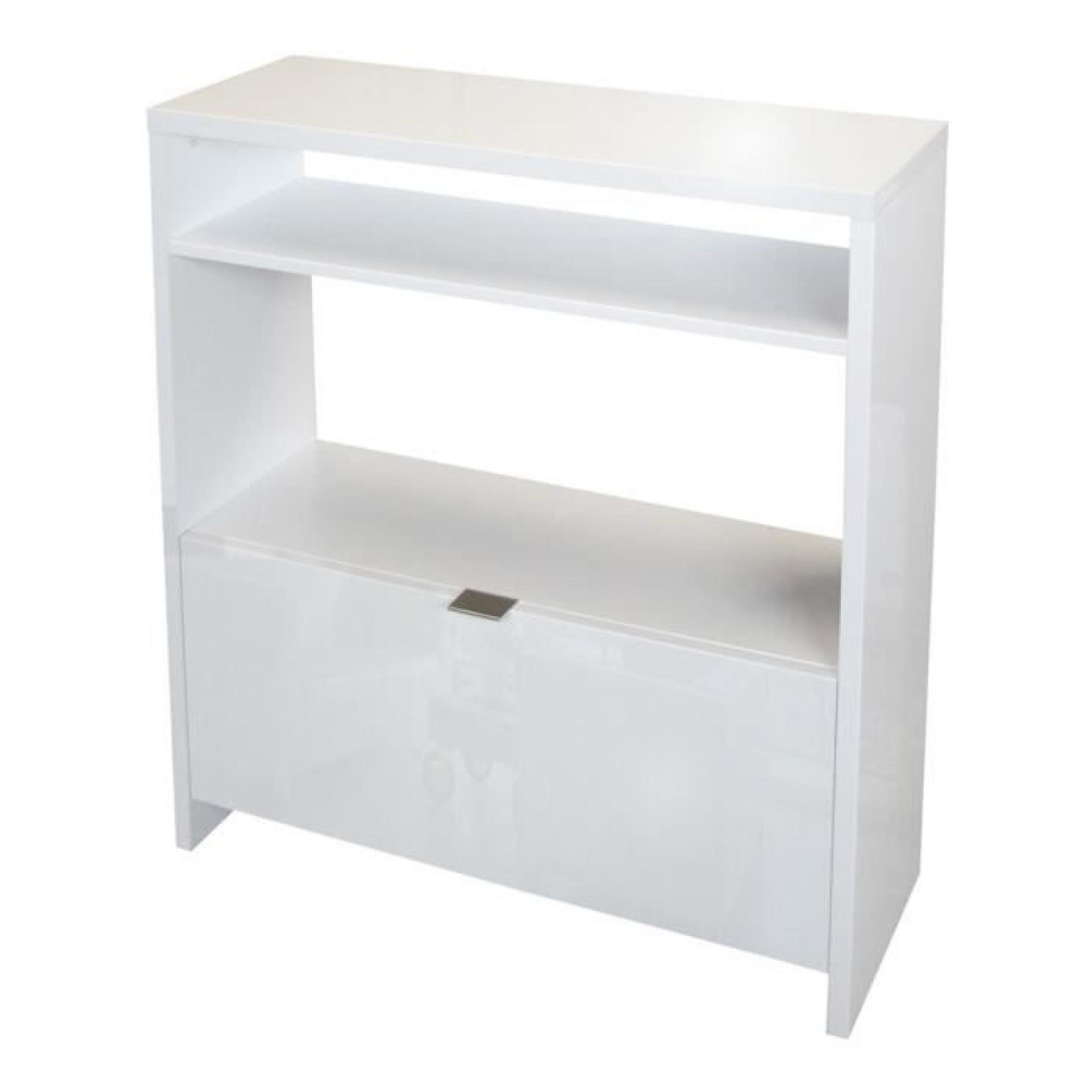 shoes console meuble chaussures 93 cm blanc haute brillance achat vente console meuble pas. Black Bedroom Furniture Sets. Home Design Ideas