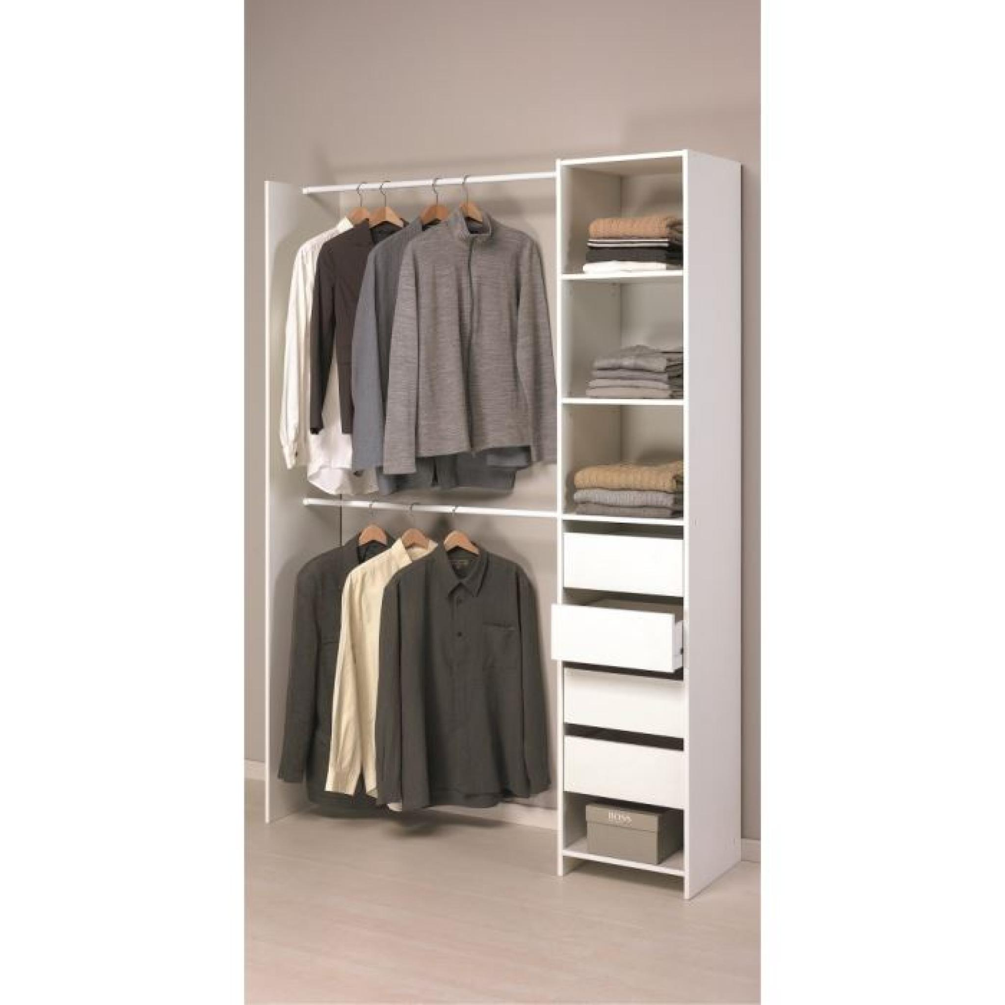 skirt kit placard 203cm blanc achat vente dressing pas cher couleur et. Black Bedroom Furniture Sets. Home Design Ideas