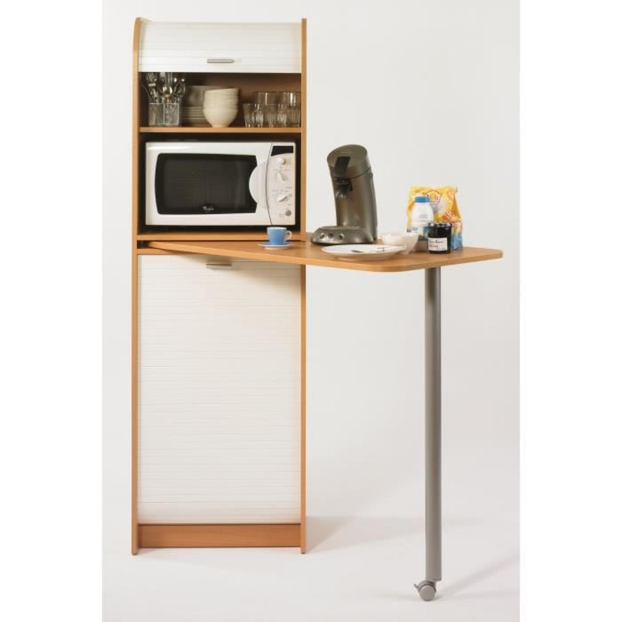 Snack meuble de rangement et table de cuisine 131 1 cm - Meuble de cuisine pas chere et facile ...