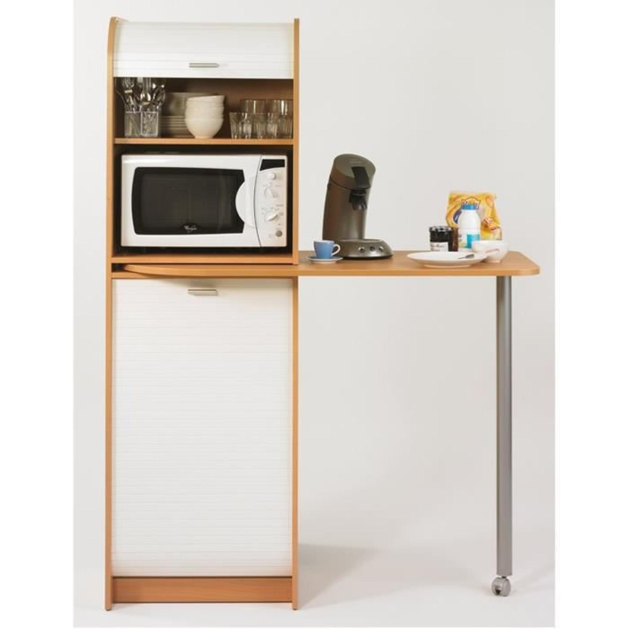 Snack meuble de rangement et table de cuisine 131 1 cm for Meuble rangement cuisine pas cher