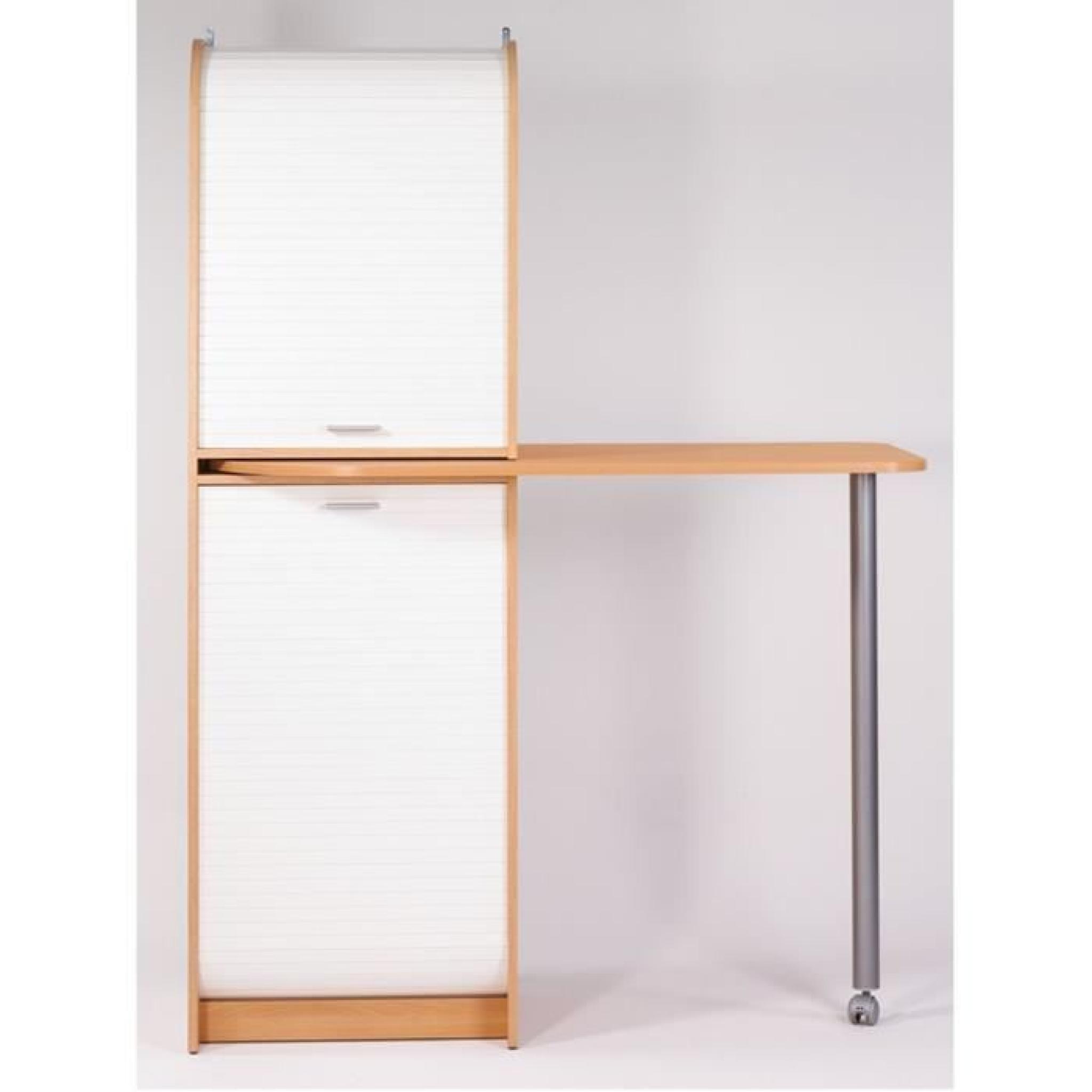 Snack meuble de rangement et table de cuisine 131 1 cm for Table de cuisine rangement