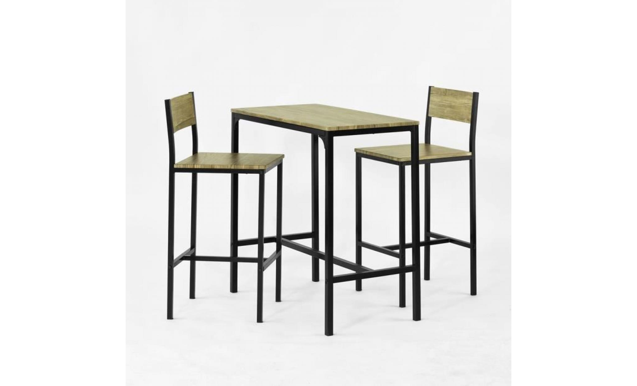 sobuy® ogt7 ensemble table de bar + 7 chaises, set de 7 table + 7 chaises,  table haute cuisine