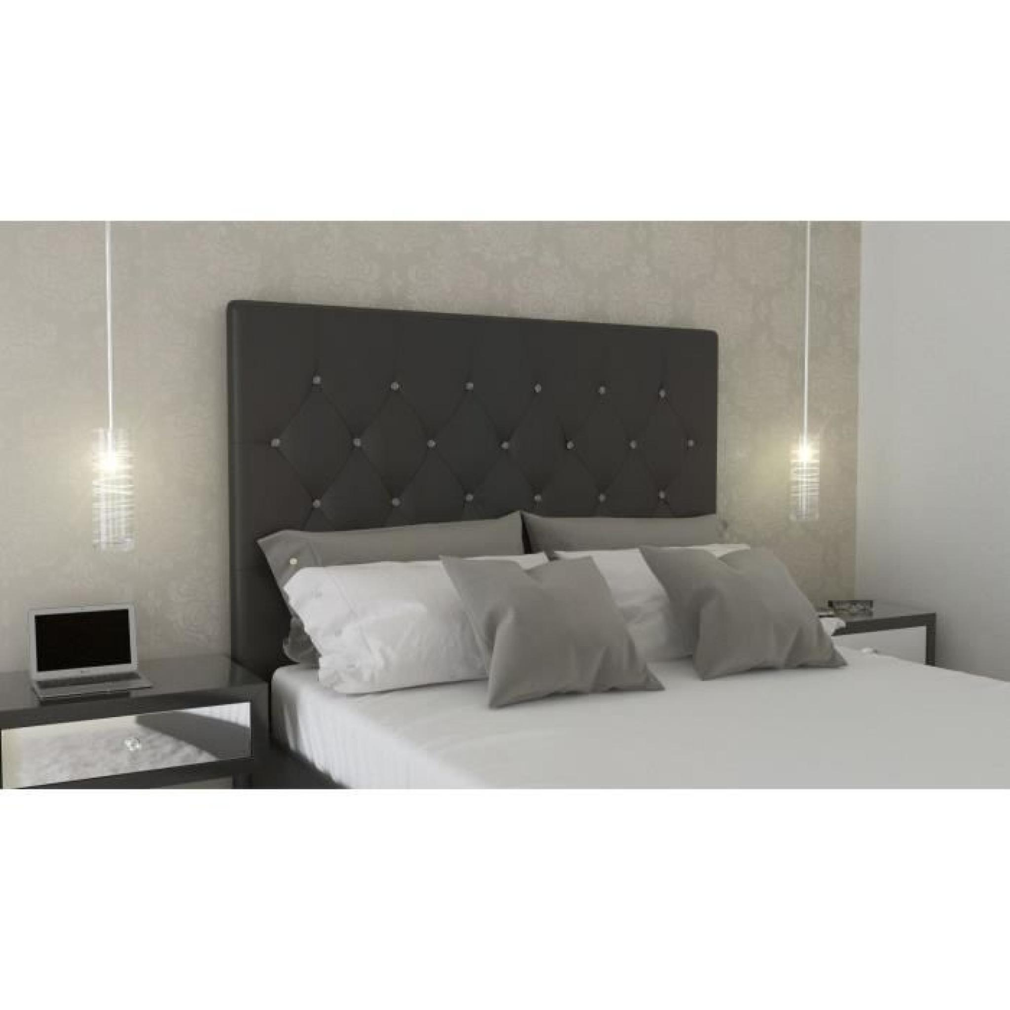 sogno t te de lit adulte 140cm pu bouton cristal achat. Black Bedroom Furniture Sets. Home Design Ideas
