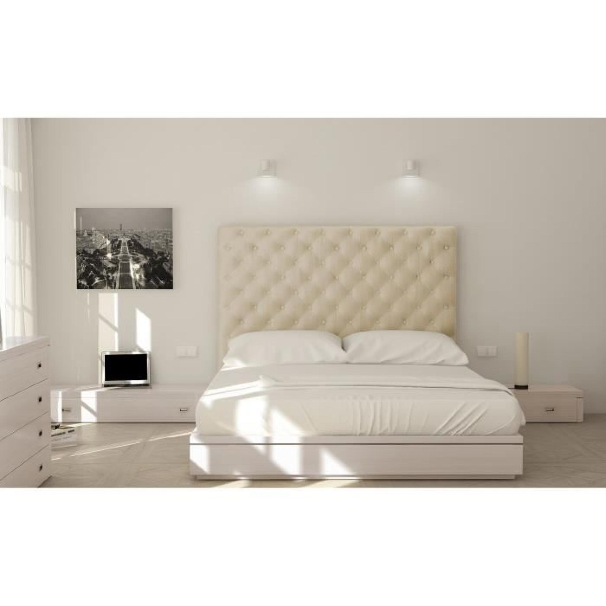 sogno t te de lit capitonn e adulte 140cm tissu achat. Black Bedroom Furniture Sets. Home Design Ideas