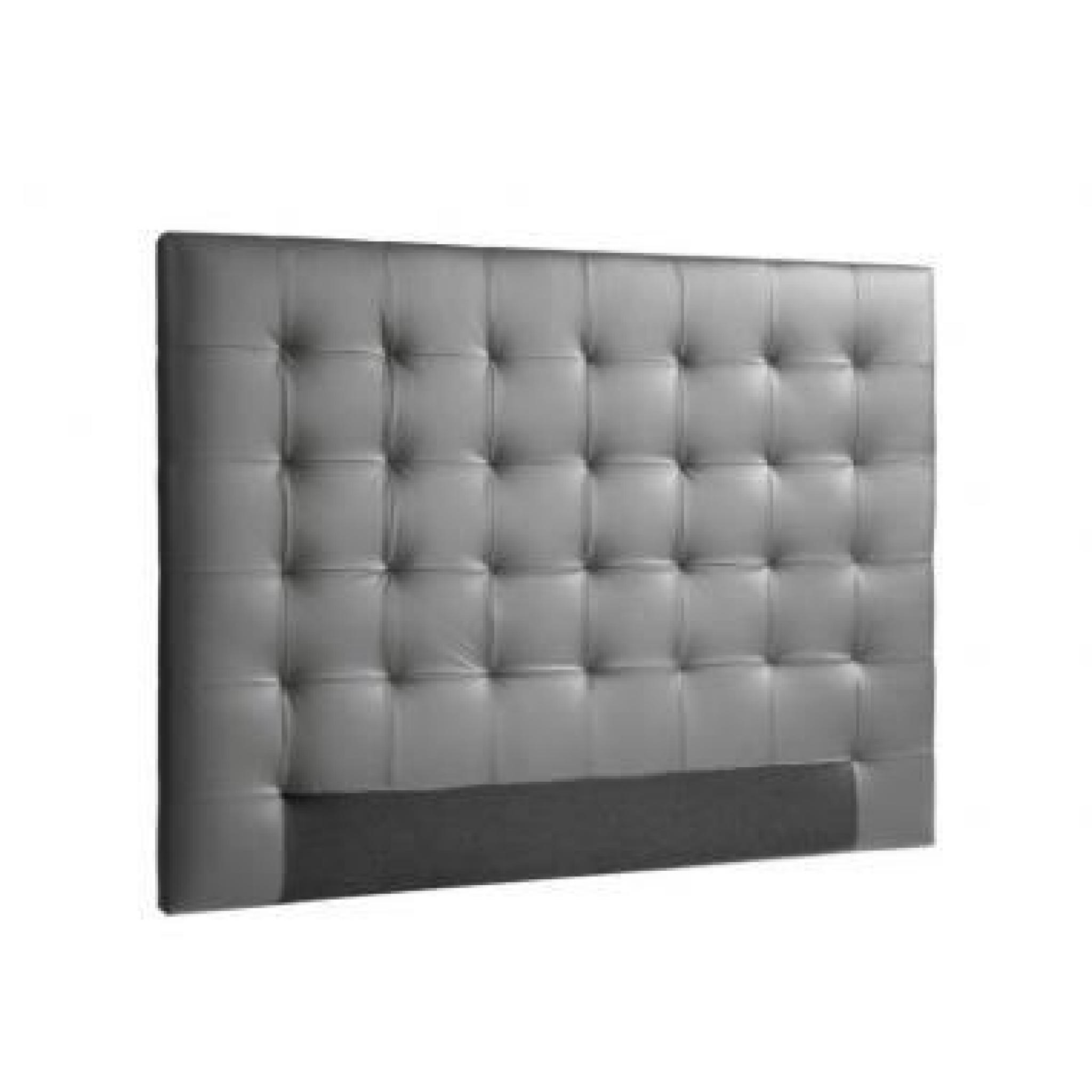 sogno t te de lit capitonn e adulte 160cm pu achat vente tete de lit pas cher couleur et. Black Bedroom Furniture Sets. Home Design Ideas