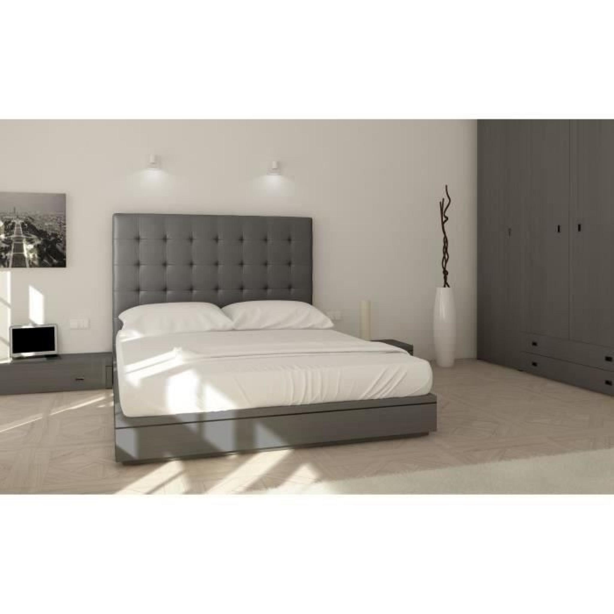 sogno t te de lit capitonn e adulte 160cm pu achat vente tete de lit pas cher couleur et. Black Bedroom Furniture Sets. Home Design Ideas