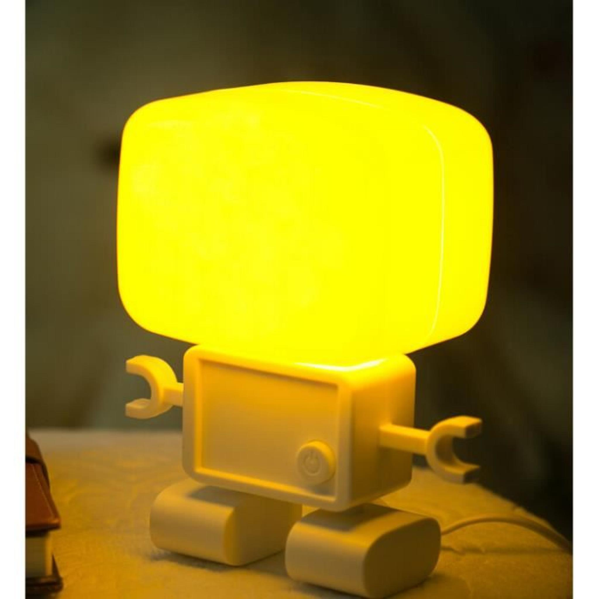 Son robots intelligents et de commande de lumi re lampe for Lampe de chevet murale