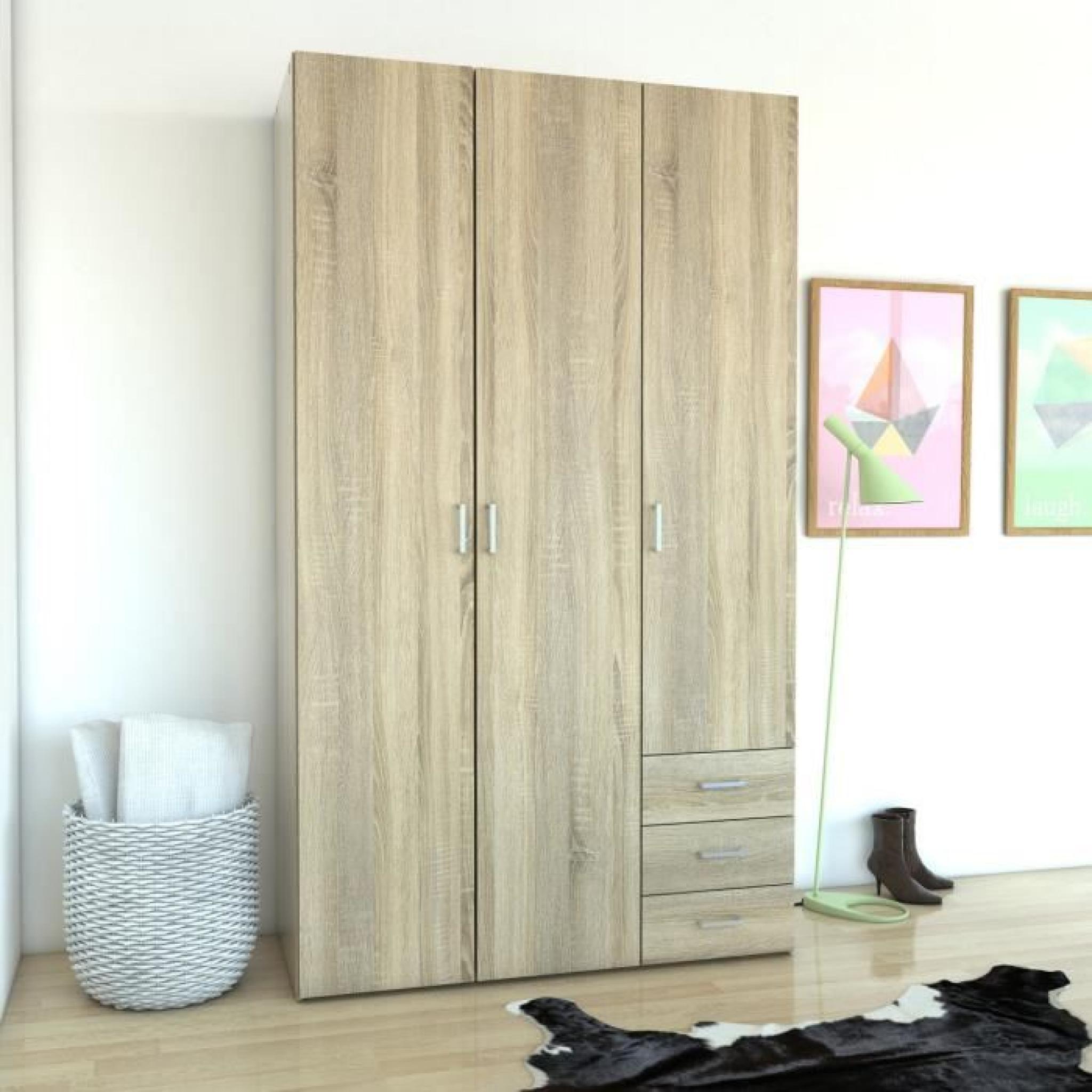Space armoire 116x49x200 cm chêne structuré   achat/vente armoire ...