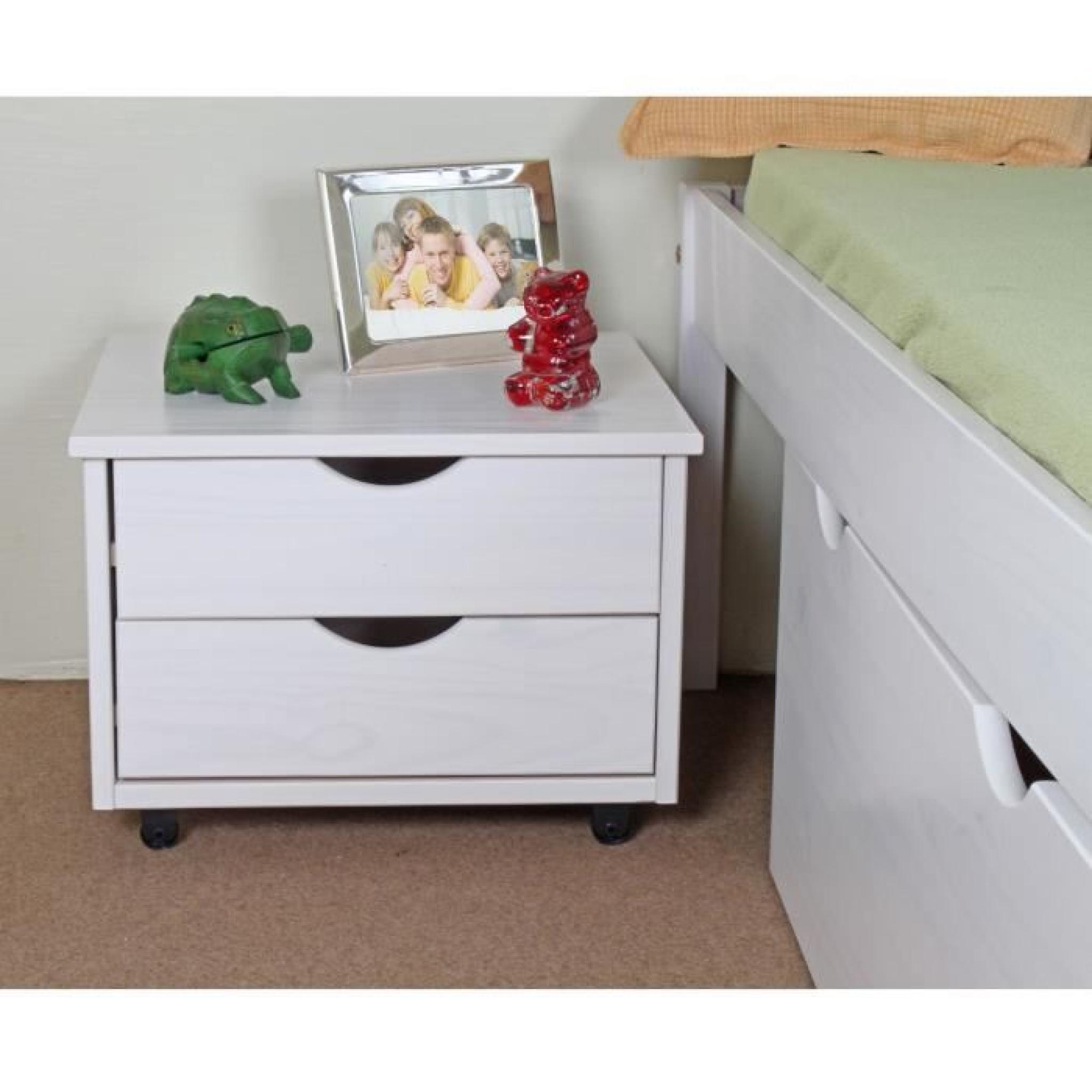 stockholm lit adulte 140x190 blanc rangements achat vente lit pas cher couleur et. Black Bedroom Furniture Sets. Home Design Ideas