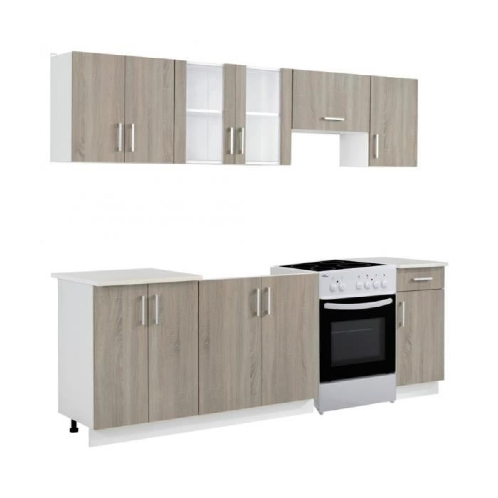 superbe bloc armoires de cuisine couleur ch ne 7 pcs avec four autoportant achat vente buffet. Black Bedroom Furniture Sets. Home Design Ideas