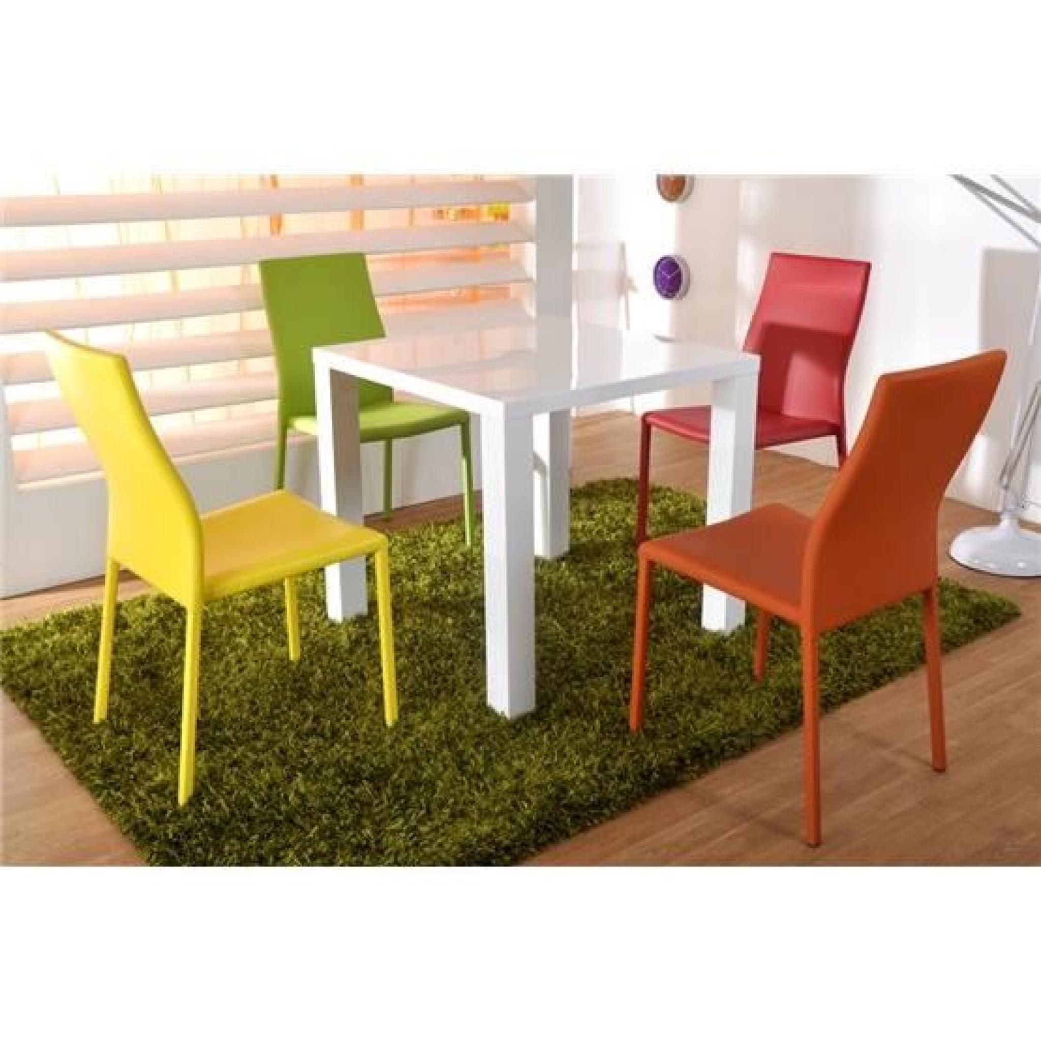 Table A Manger Design Pas Cher.Table A Manger Design Lauss Blanc 80x80