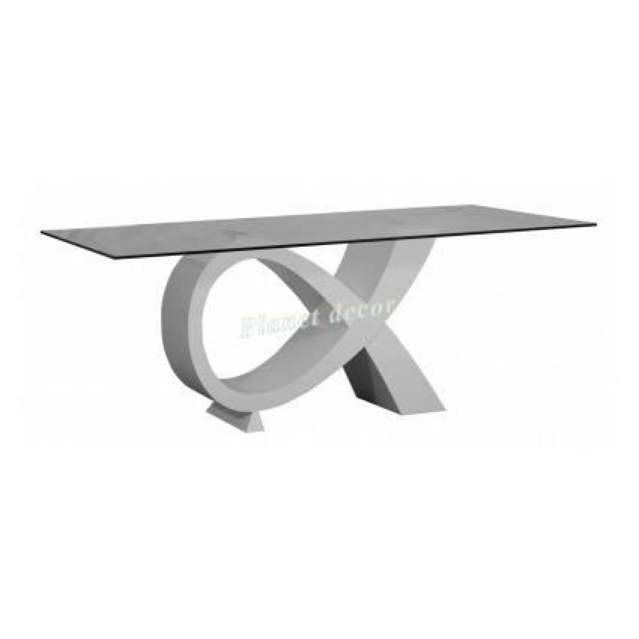 Table manger electra blanc sans chaises achat vente for Chaise table a manger blanc