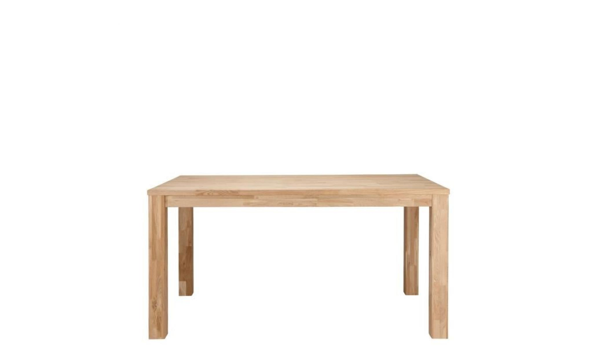 Table manger en ch ne massif brut dutchwood dimensions - Table en chene massif pas cher ...