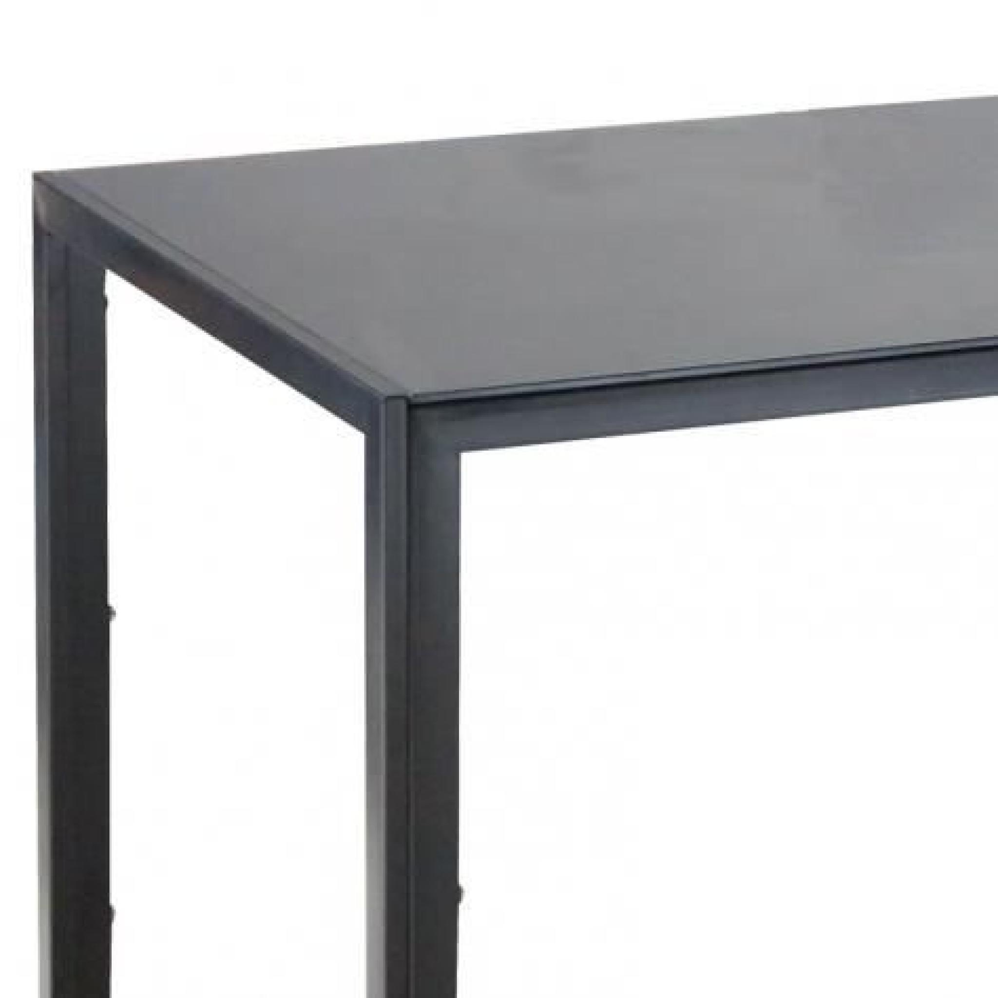 Table à manger en verre noir Malia - Achat/Vente table salle a ...
