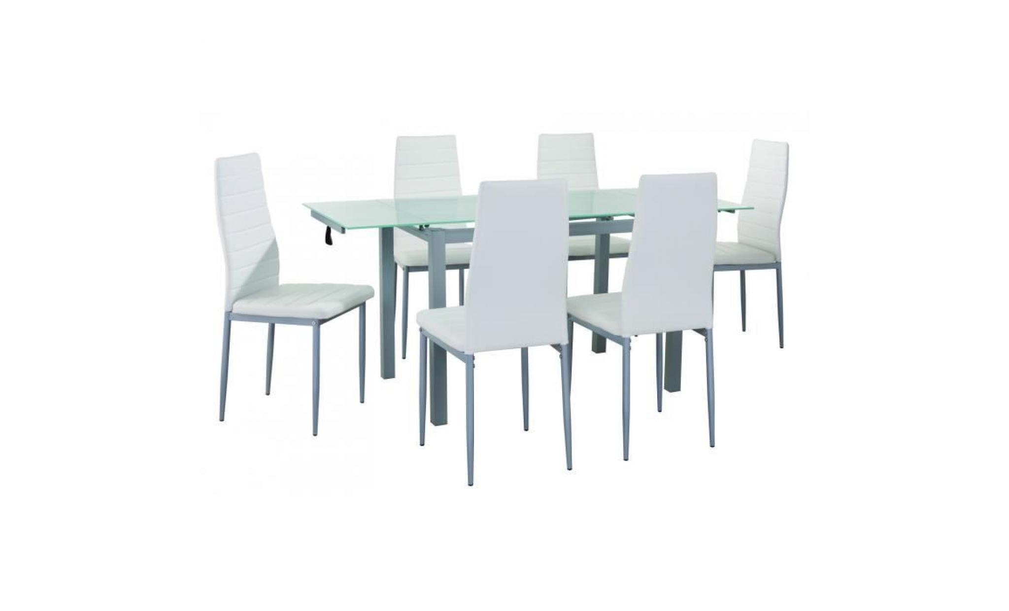 table À manger extensible + 6 chaises blanc gisborne ...