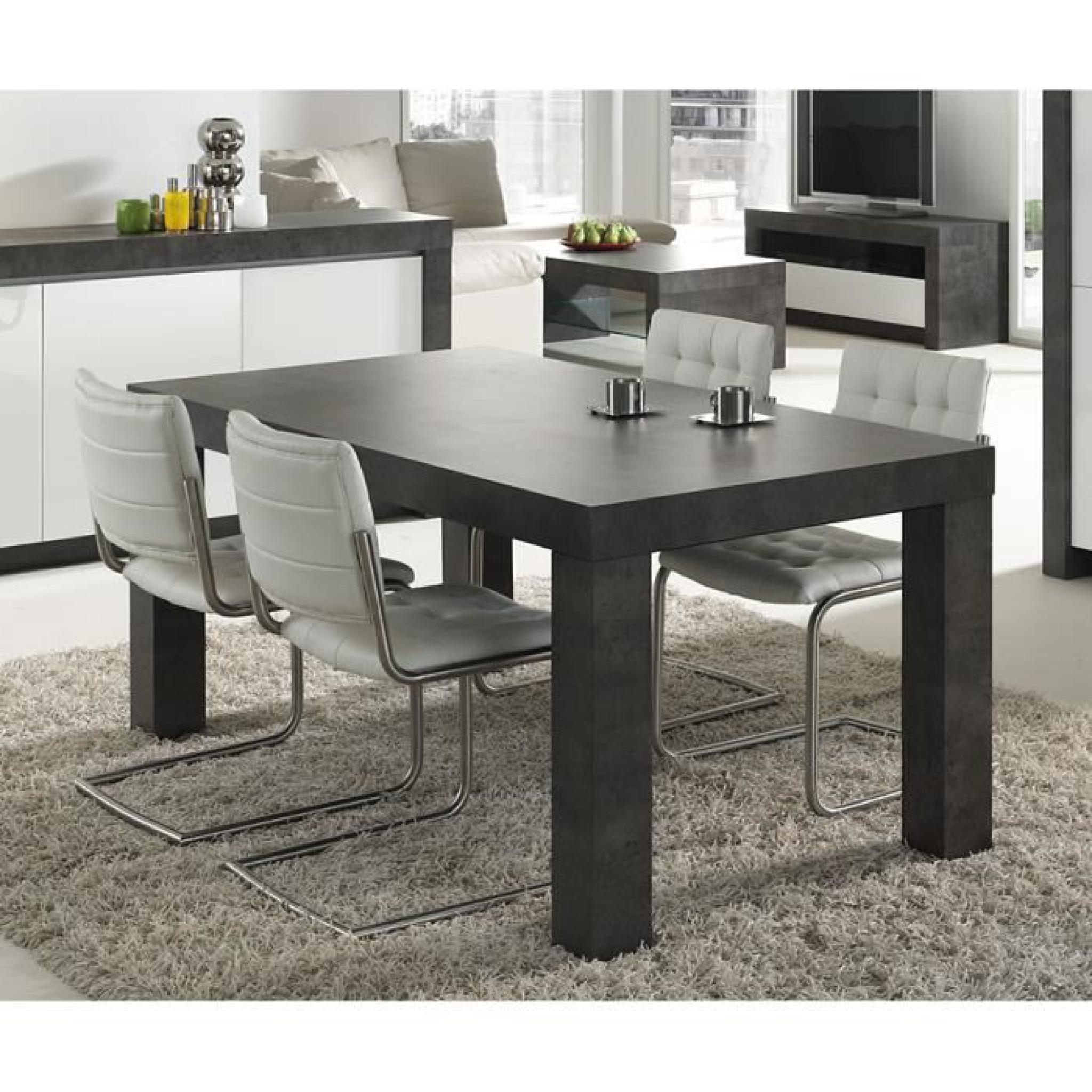 Salle à Manger Moderne Pas Cher: Table à Manger Gris Effet Béton Ciré Moderne MURILO Table