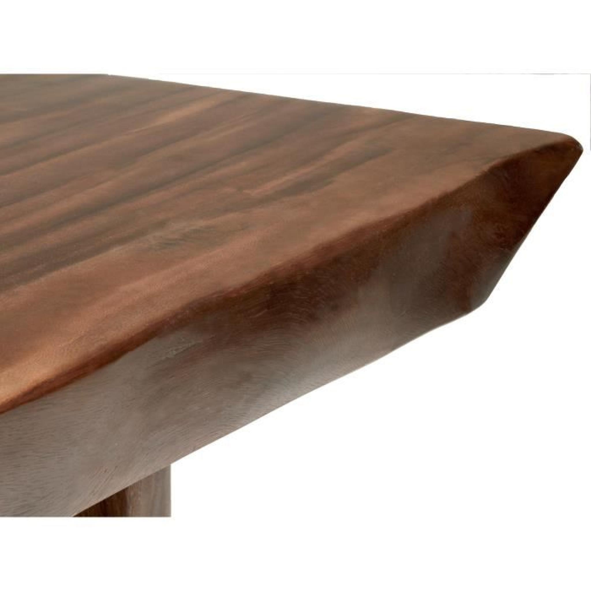 table manger one piece 200x120 en bois de suar massif massivum achat vente table salle a. Black Bedroom Furniture Sets. Home Design Ideas