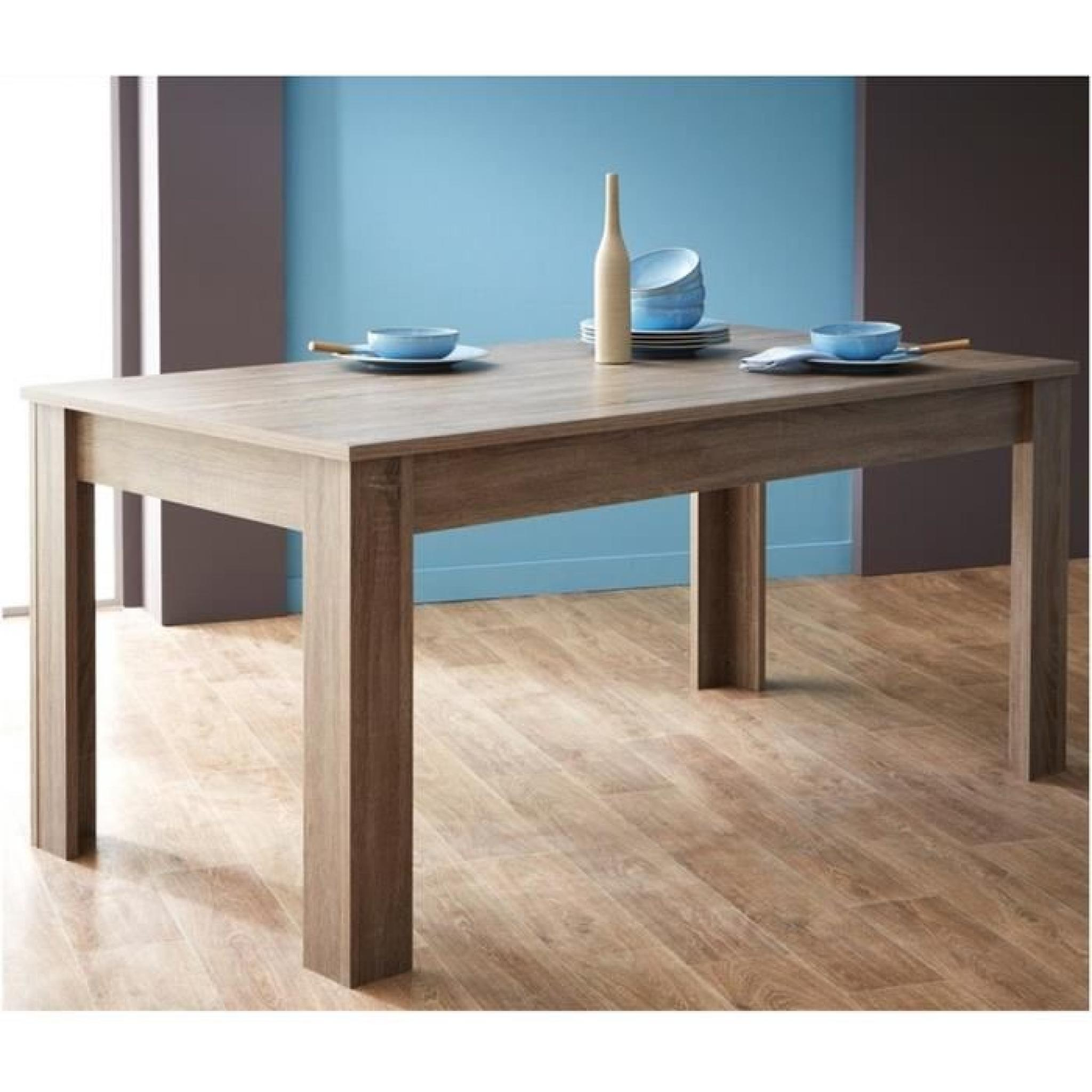 Table A Manger Rectangulaire Bois Design Chene L170 X P90 X H77 2 Cm