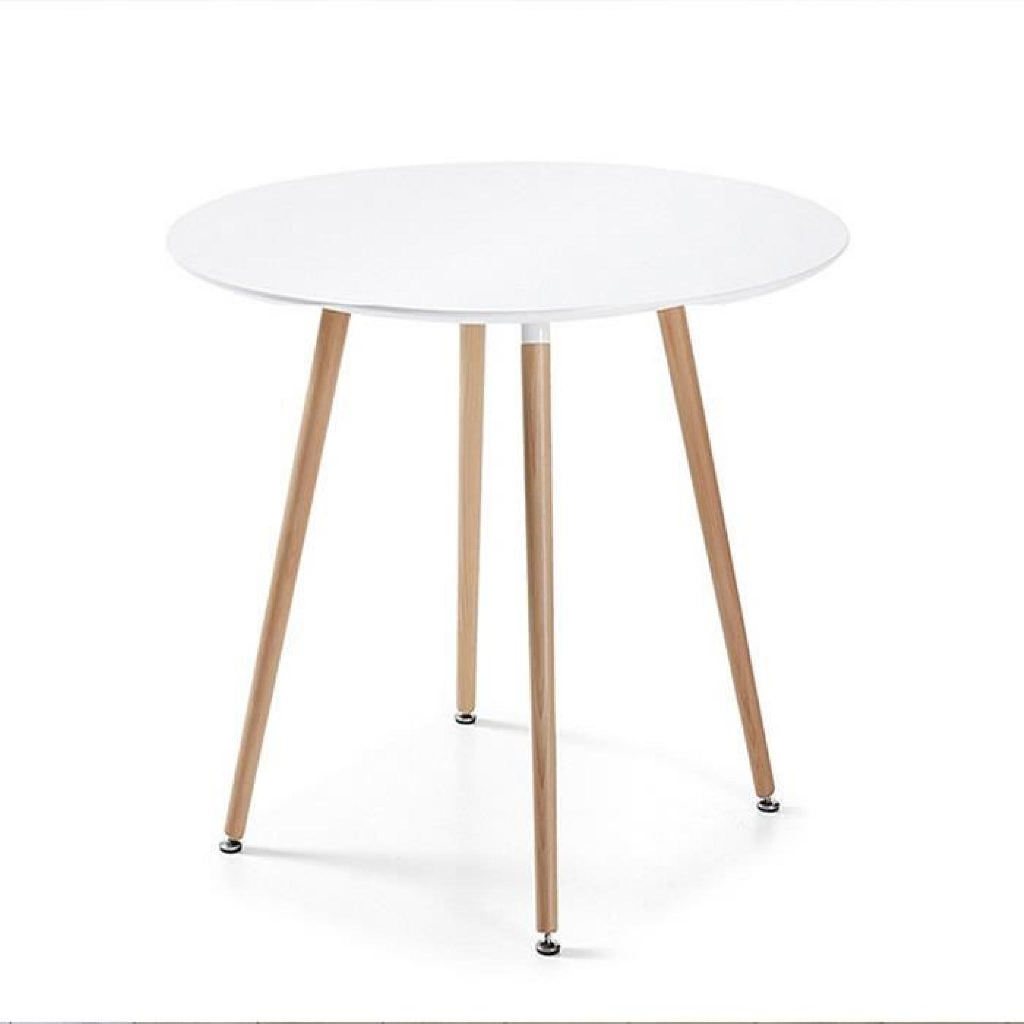 Table à manger ronde blanche design 100cm - Alta