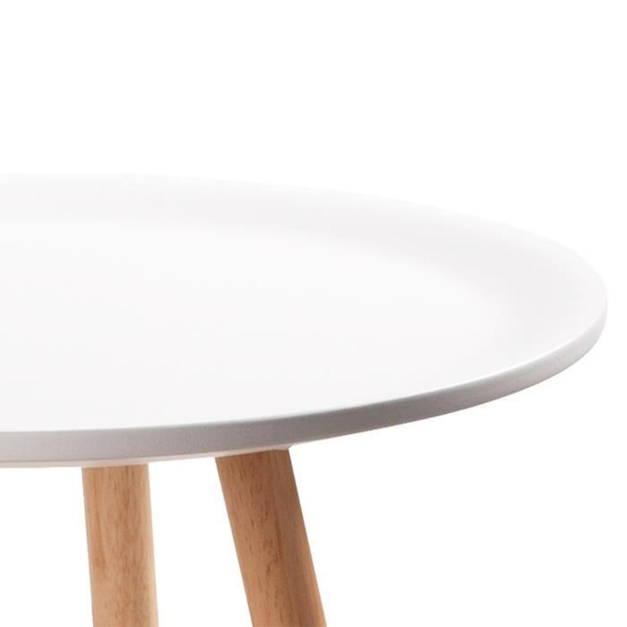 Table à manger ronde blanche design 100cm - Alta - Achat/Vente table ...