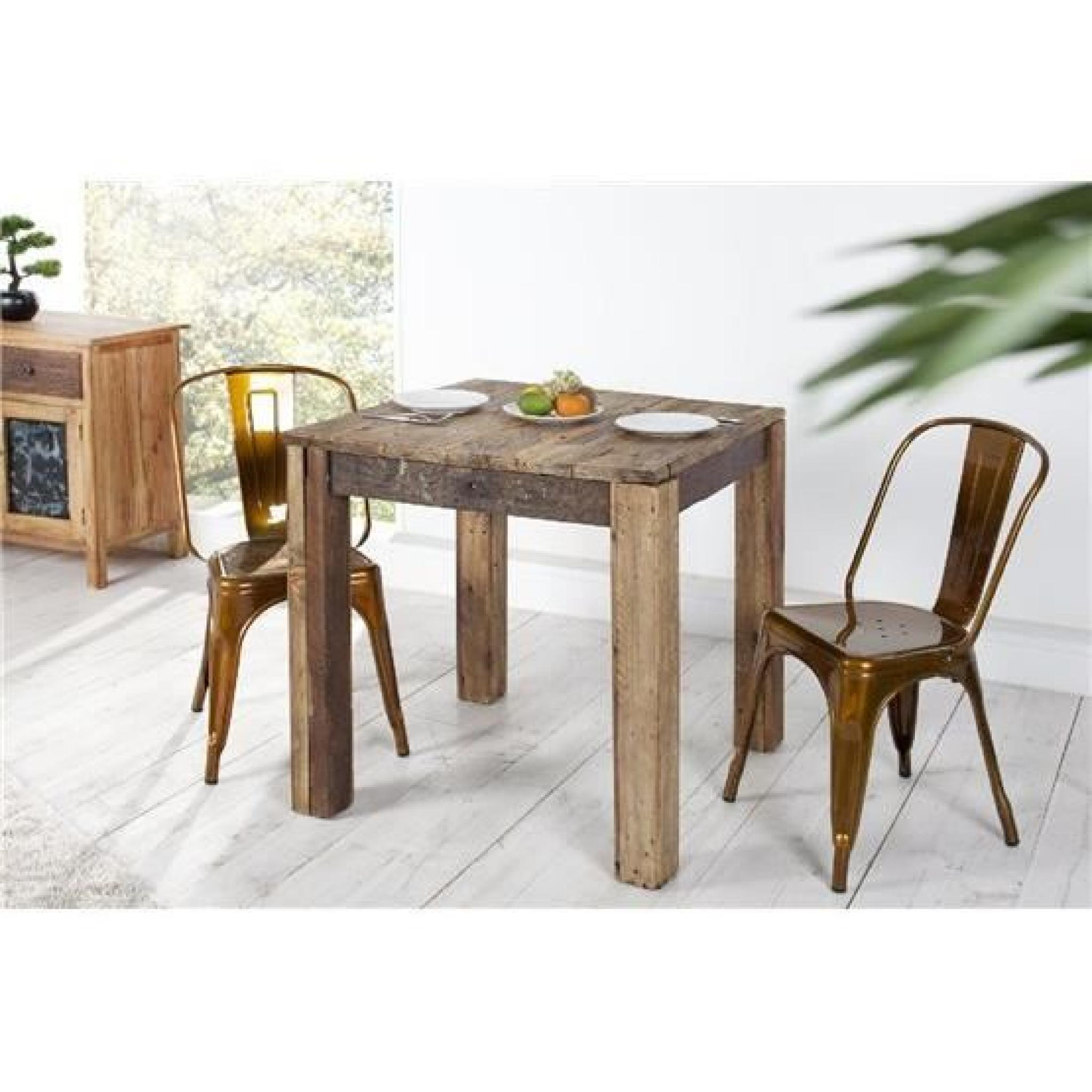 Table manger waali bois fonc achat vente table salle for Petite table a manger pas cher