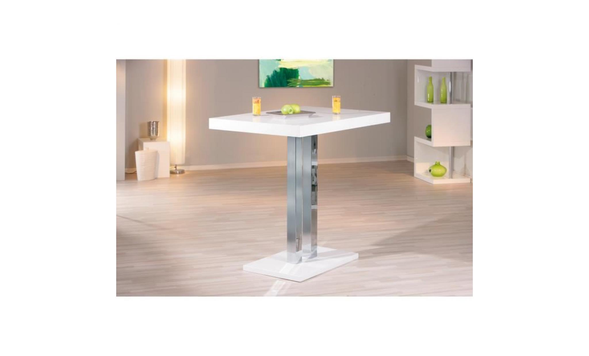 table bar palazzi meuble cuisine ou salle a manger plateau blanc brillant dim 1200x100x800 achat vente table salle a manger pas cher couleur et design fr