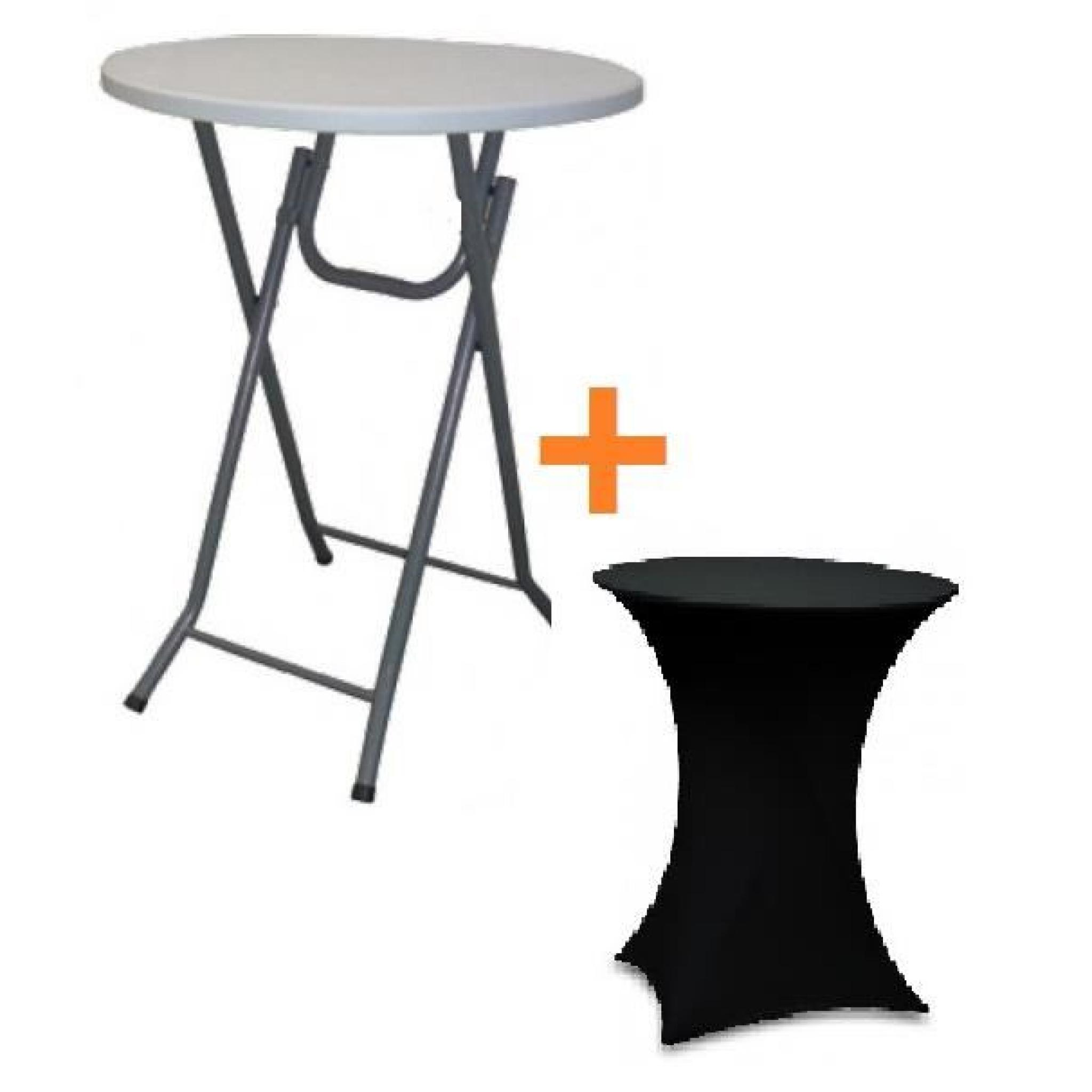 Table bar pliante mange debout housse noir achat vente for Achat table bar