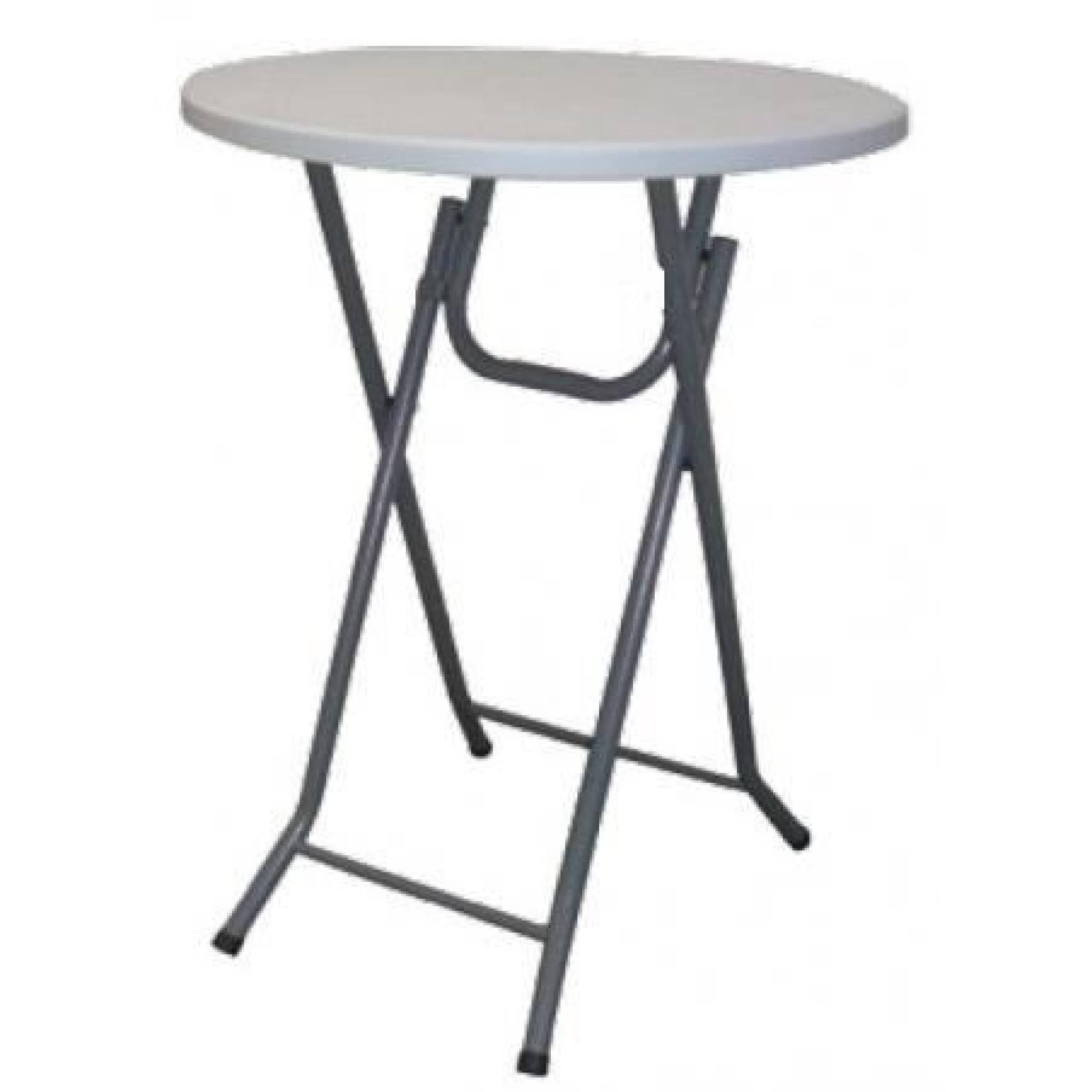 Table bar pliante mange debout housse noir achat vente for Table mange debout