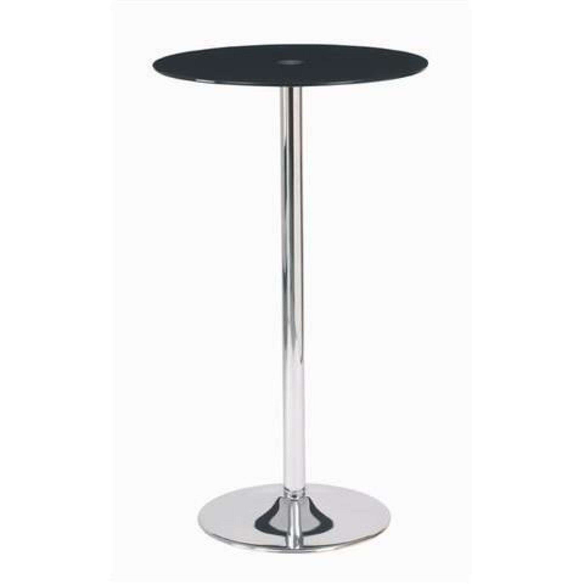 Table bar ronde en verre achat vente table salle a for Table ronde bar