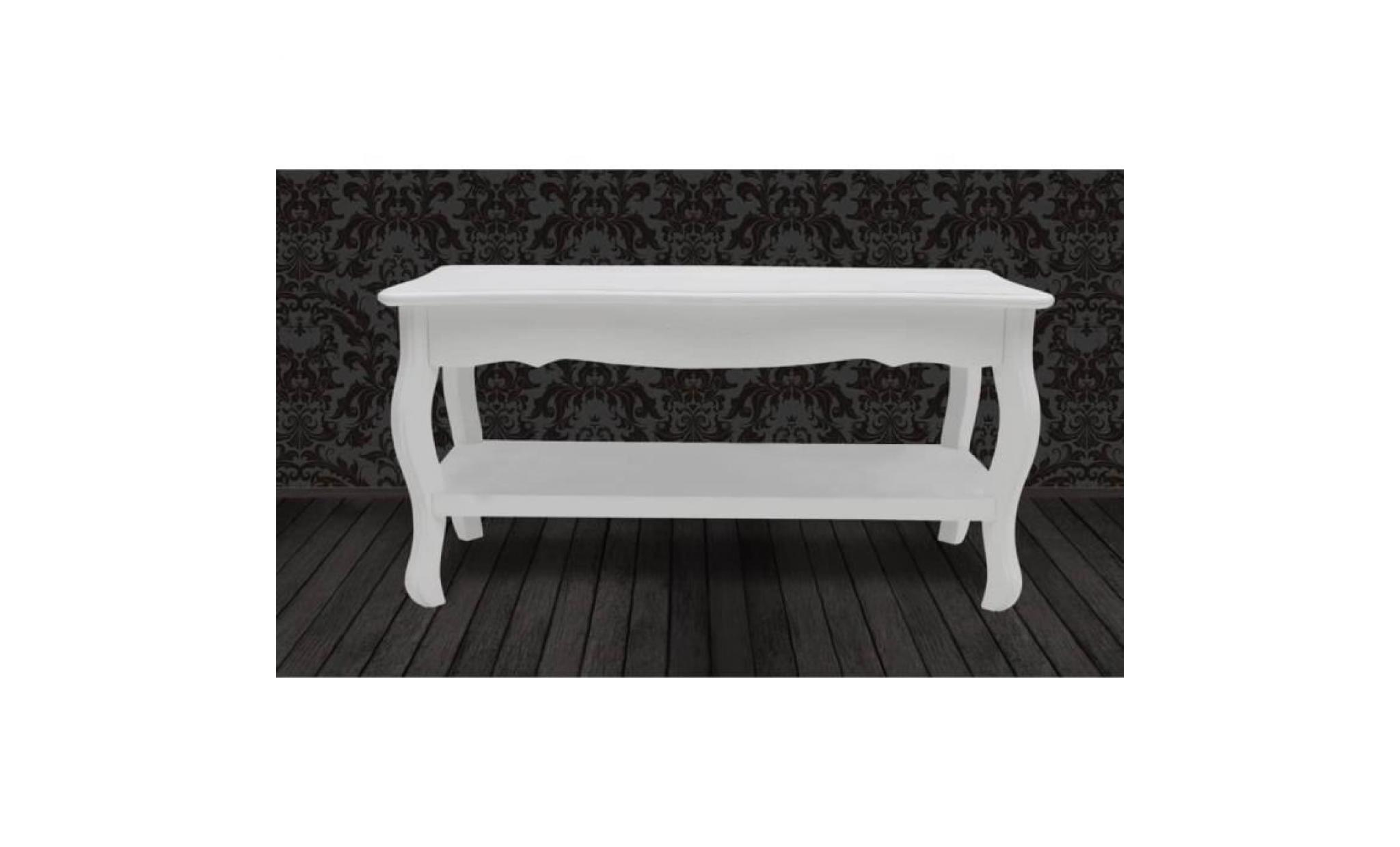 Table Basse 2 Couches Mdf Blanc