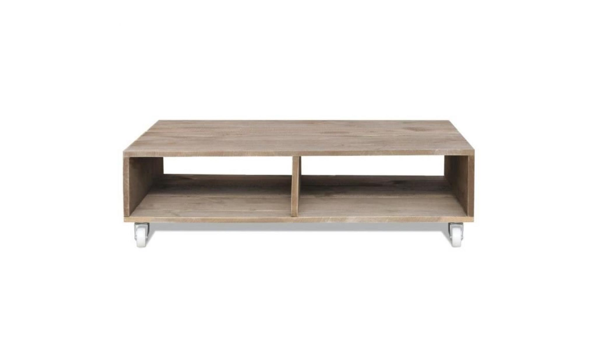 table basse bois massif marron table basse contemporain scandinave pas cher