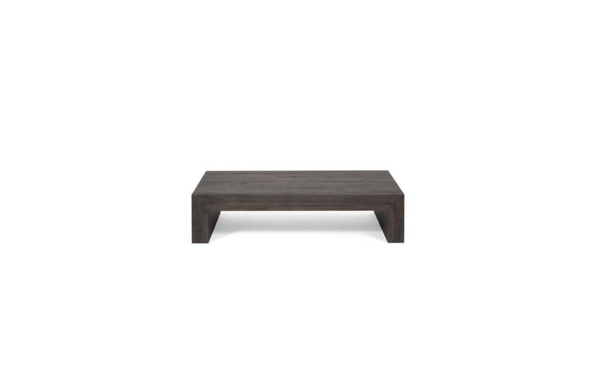 mobilifiver table basse, first h21, chêne brown, 90 x 54 x 21 cm, mélaminé, made in italy pas cher
