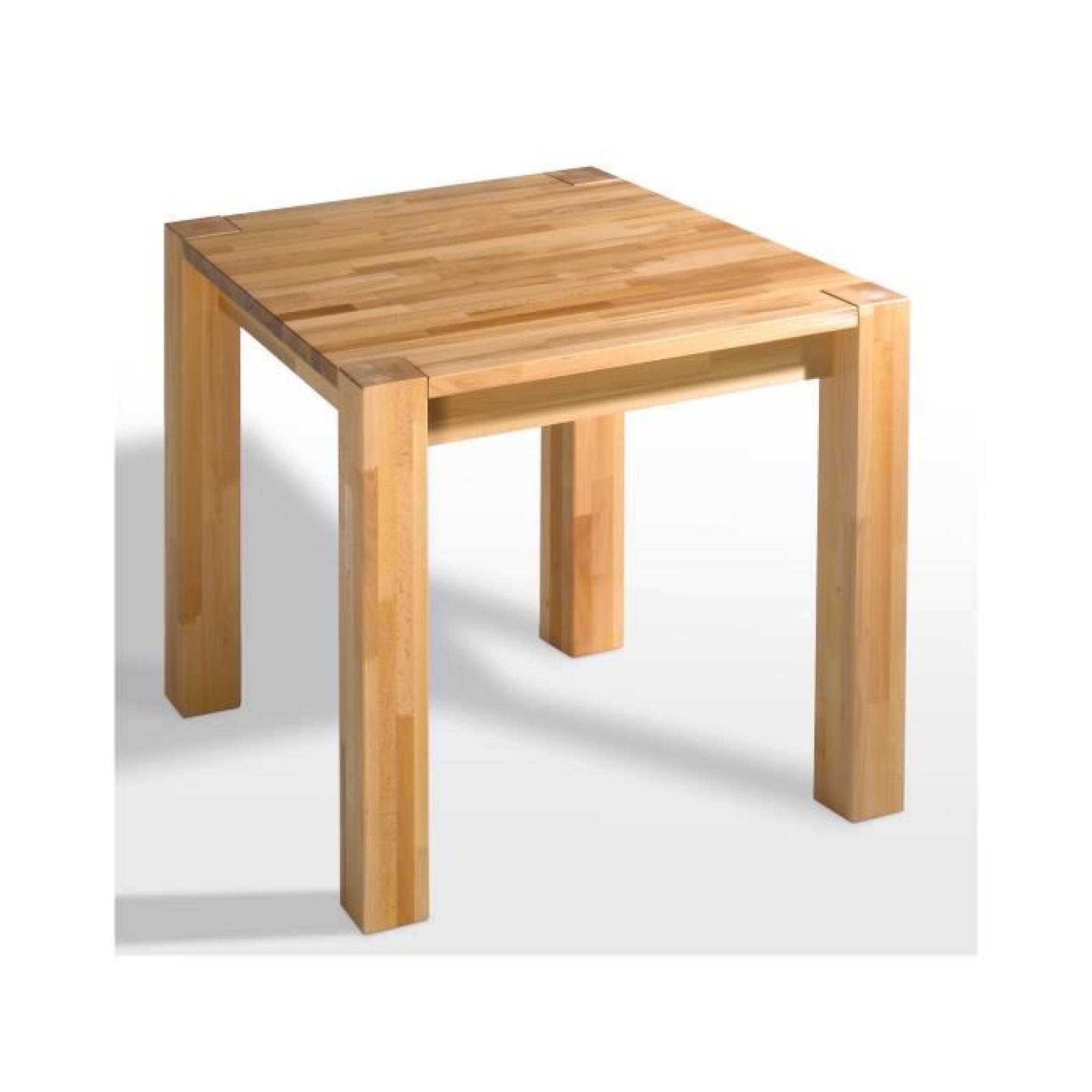 Table BUCHE 80x80 en hêtre massif huilé avec rallonges massivum ...