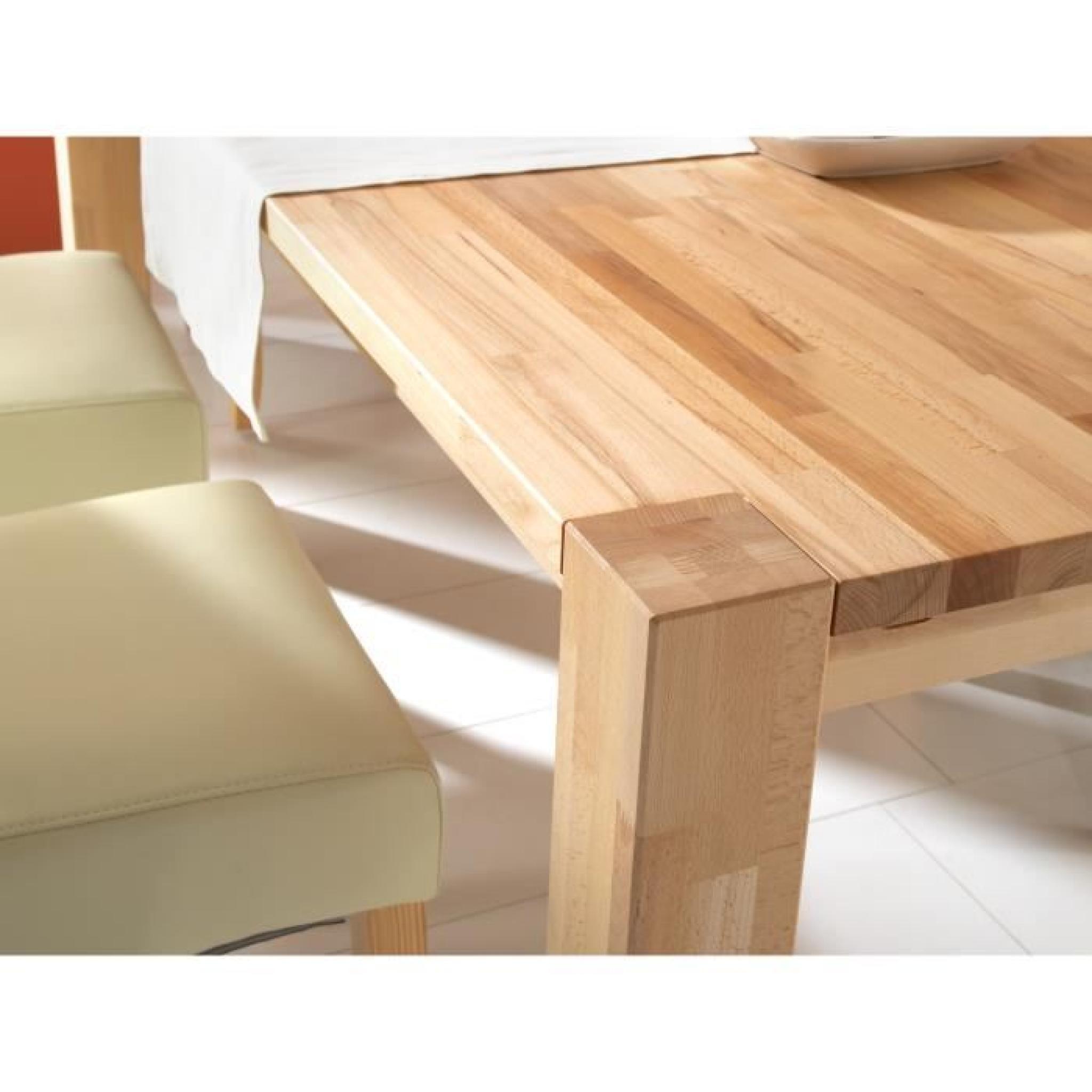 table buche 80x80 en h tre massif huil avec rallonges massivum achat vente table salle a. Black Bedroom Furniture Sets. Home Design Ideas