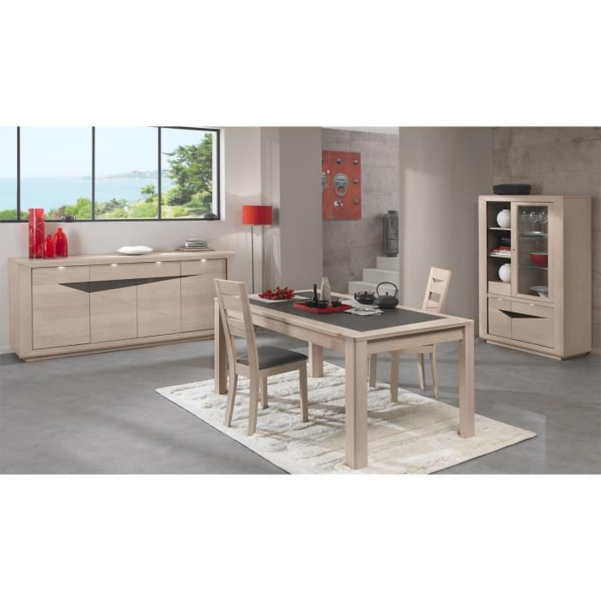 #9E2D30 Table Céramique MONACO (Chêne Gris Mat L.160 X H.77 X P  3883 salle a manger pas cher gris 2048x2048 px @ aertt.com