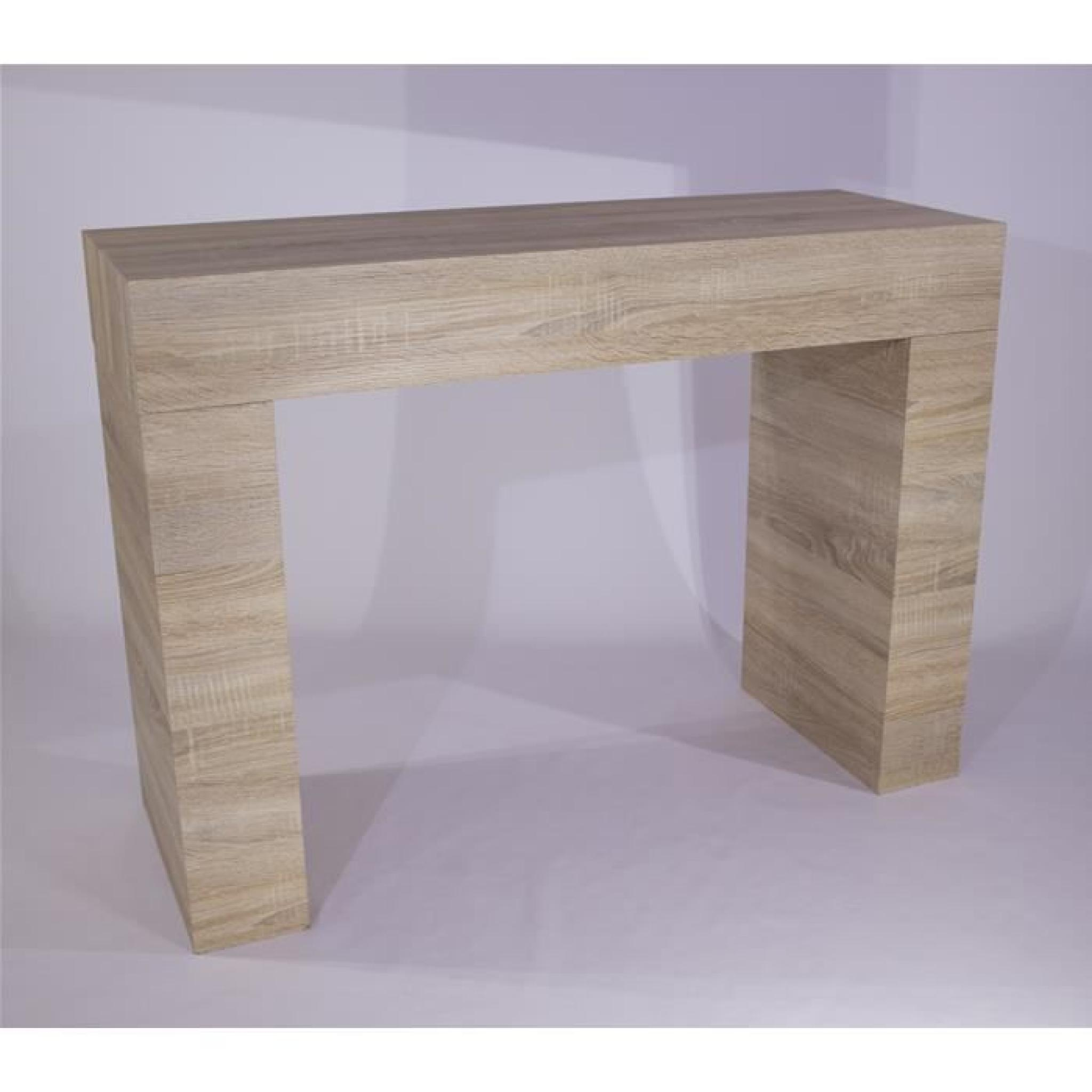 Table console evolution chene clair achat vente console for Table tv pas cher