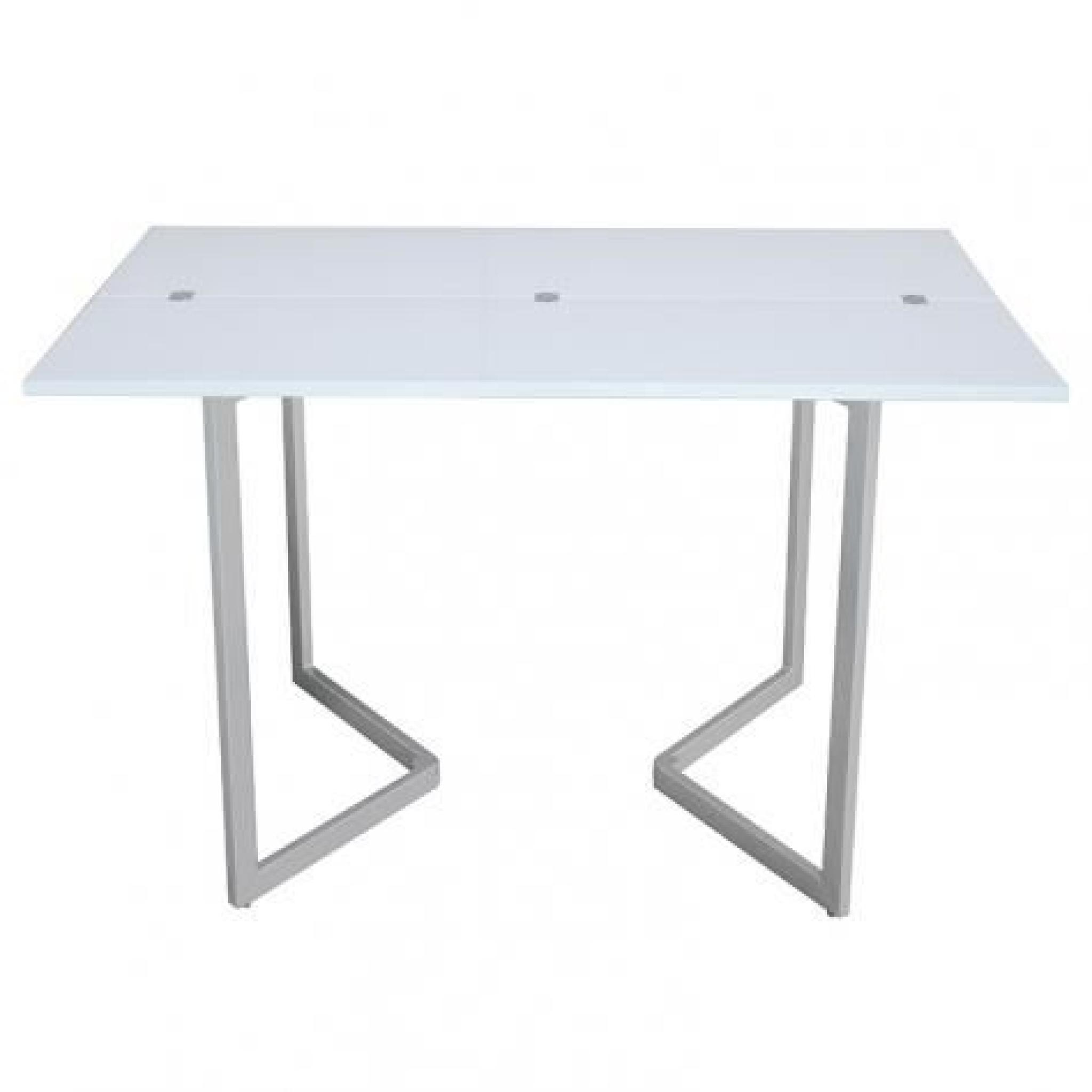 Table console extensible blanche laqu e talia achat for Ensemble buffet table manger