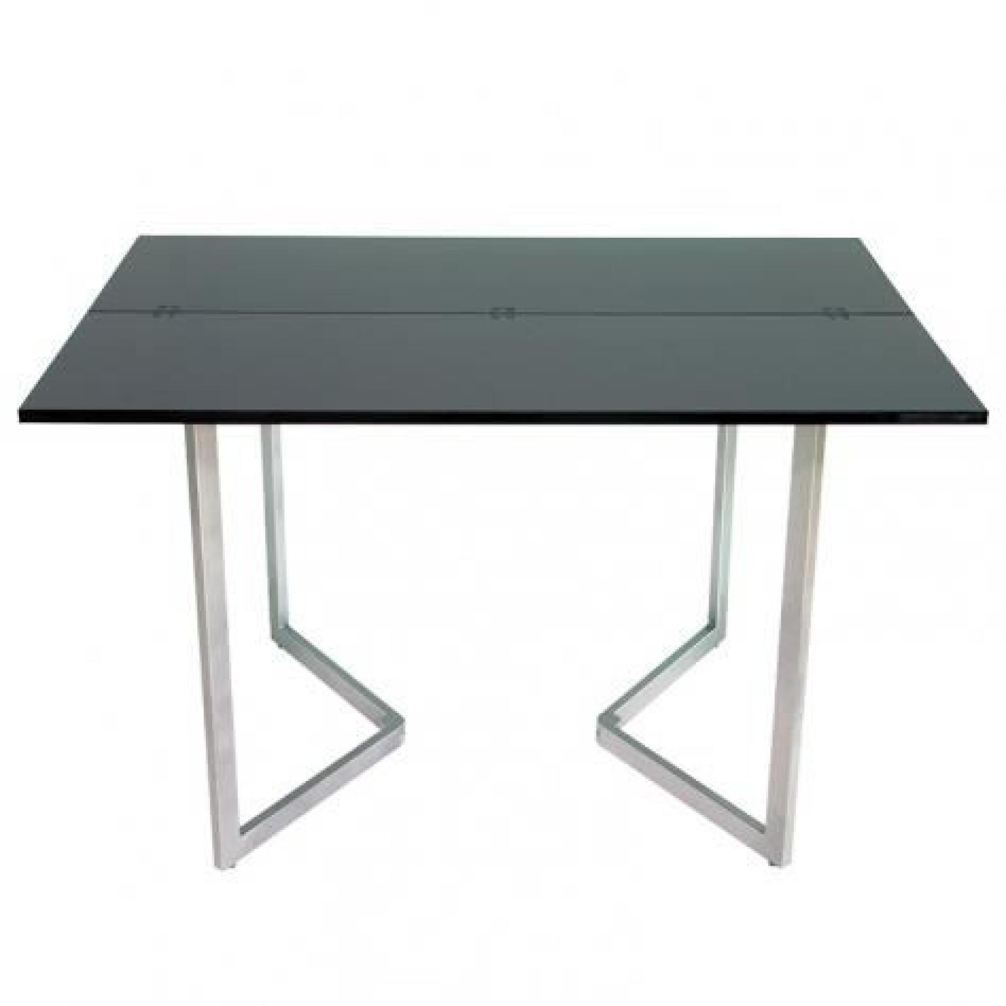 table console extensible noire laqu e talia achat vente ensemble salle a manger pas cher. Black Bedroom Furniture Sets. Home Design Ideas