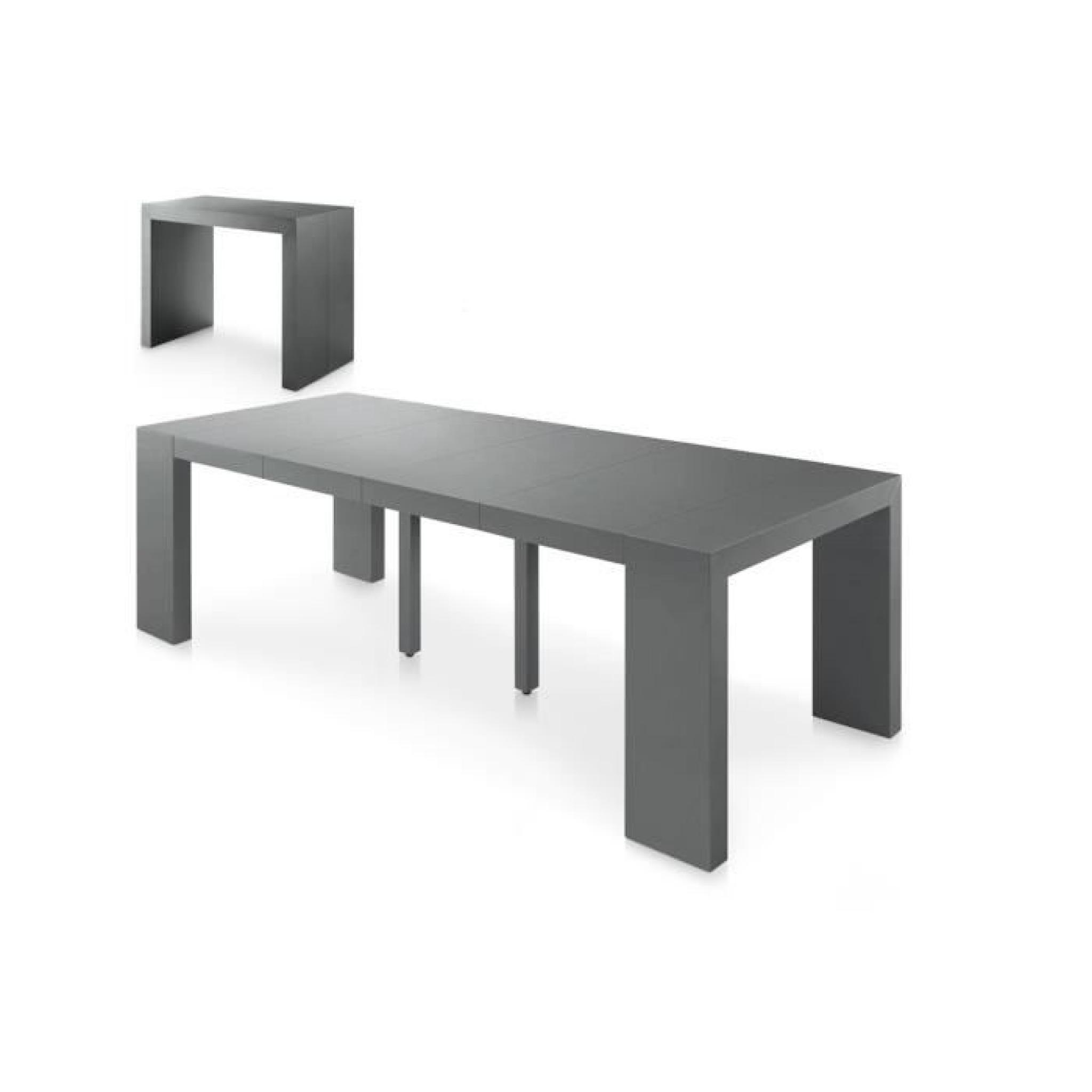 Table Extensible Pas Cher.Table Console Extensible Pas Cher 250 Cm Gris S