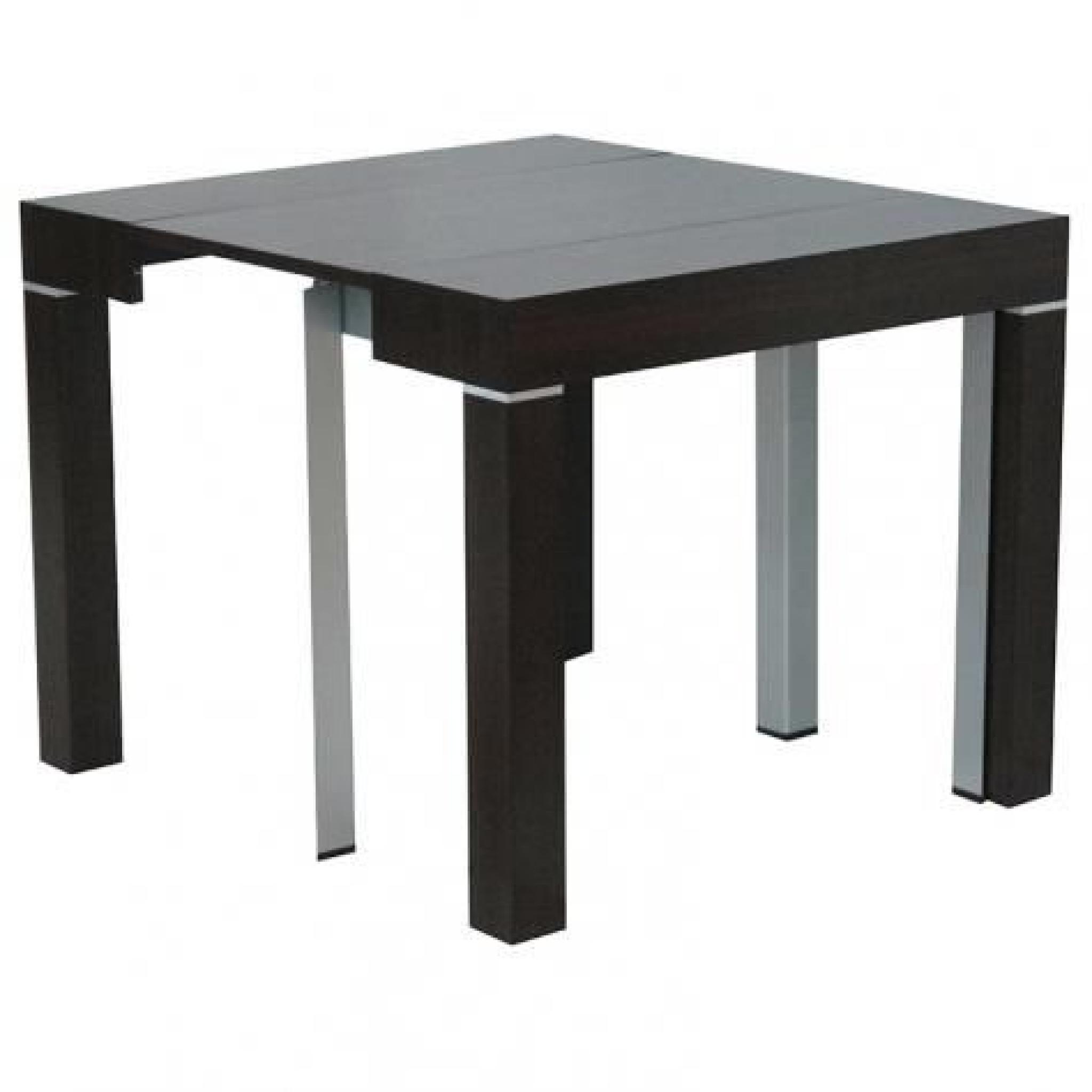Table console extensible wenge avec 4 rallonges alesia for Table extensible avec rallonges integrees