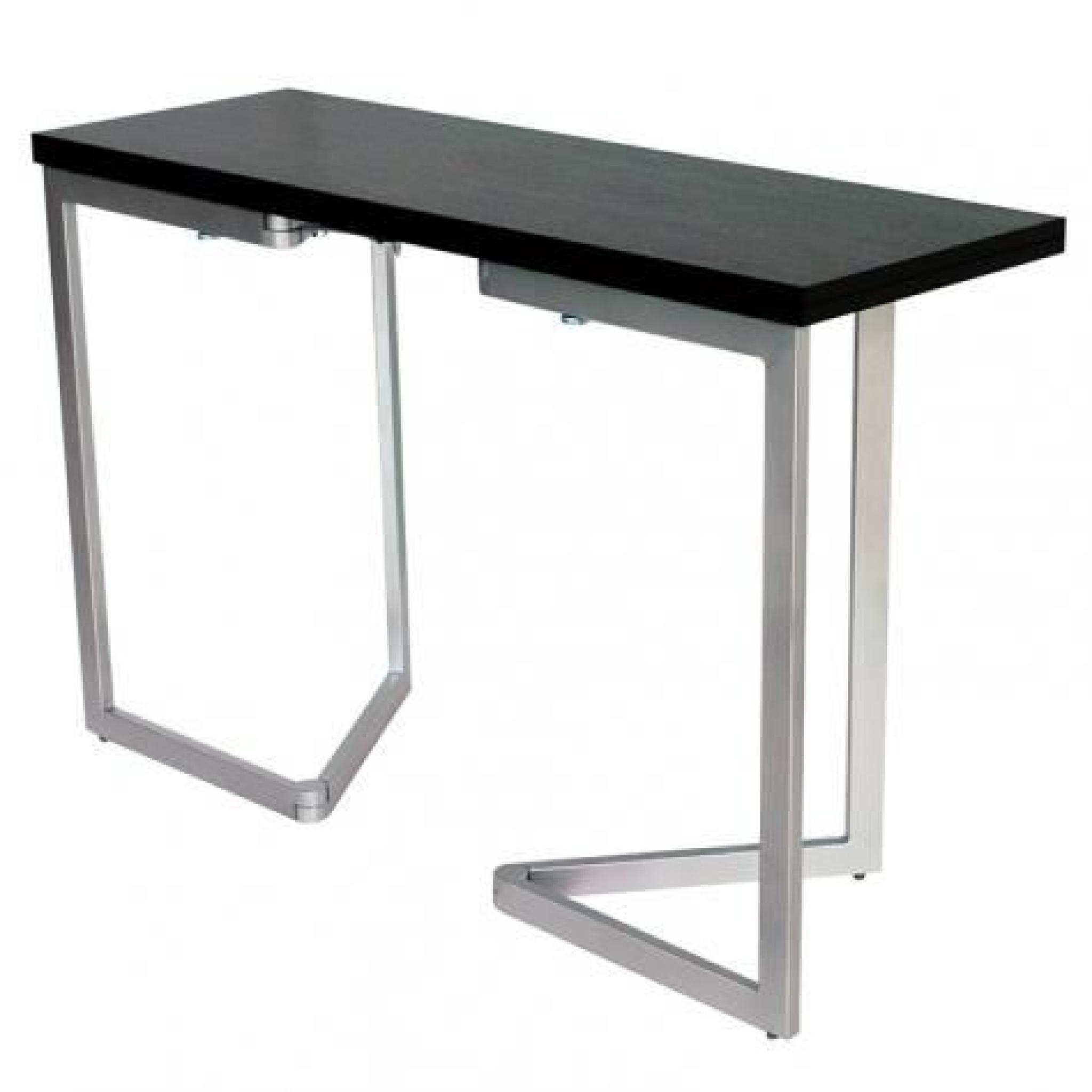 Table console extensible weng talia achat vente for Table salle a manger wenge but